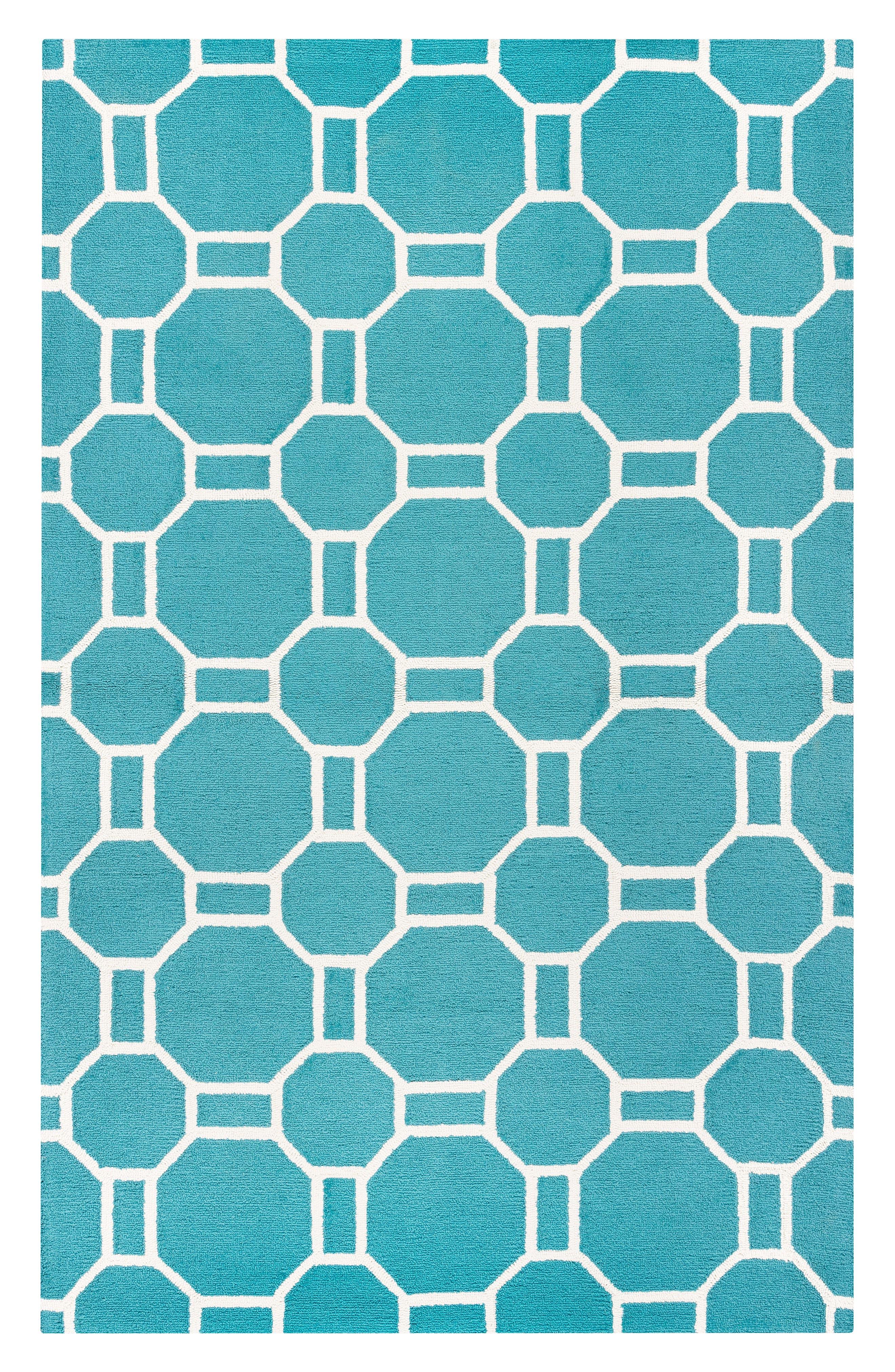 Azzura Hill Elisa Rug,                             Main thumbnail 1, color,                             Teal