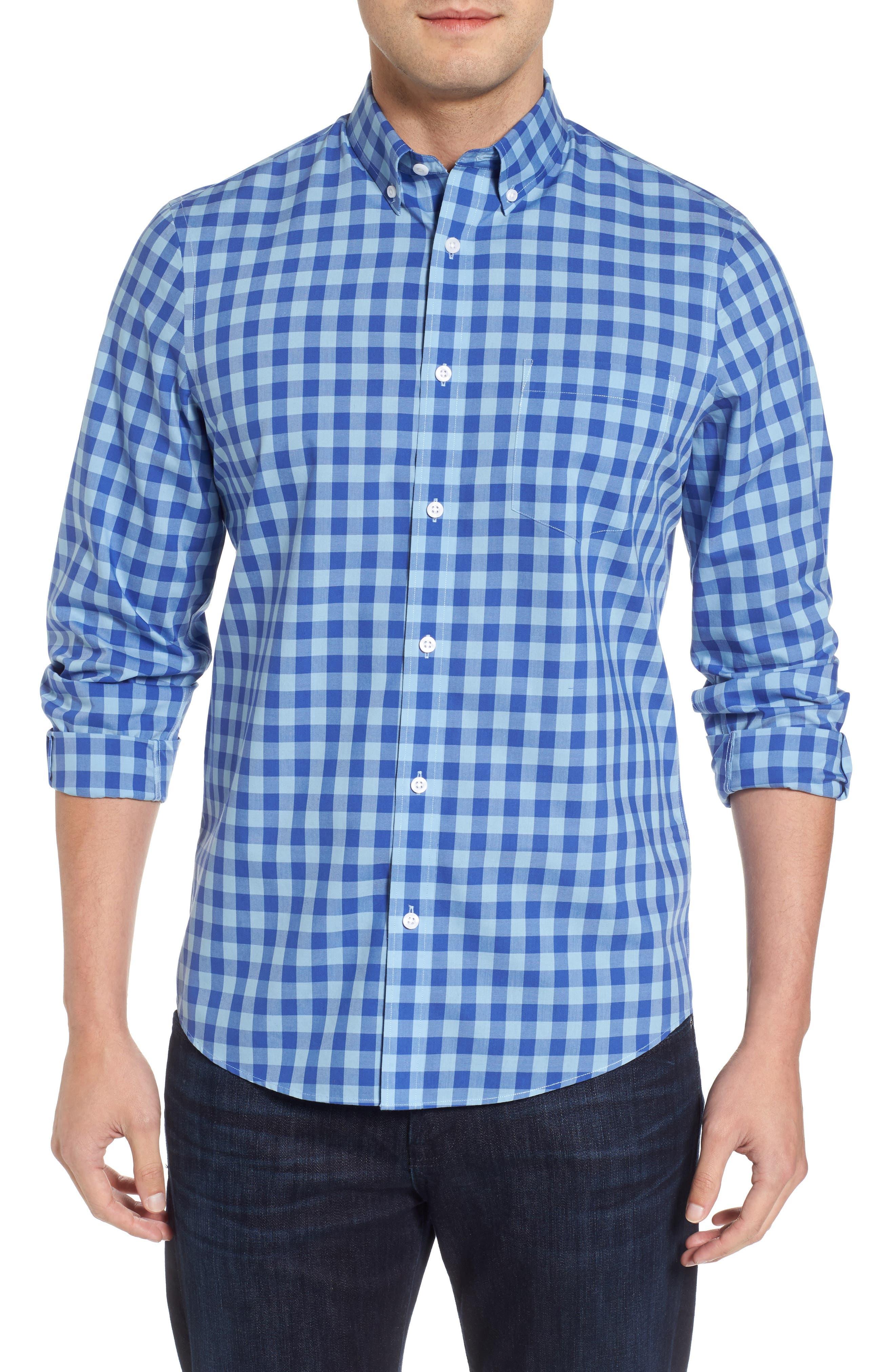 Nordstrom Men's Shop Regular Fit Gingham Sport Shirt