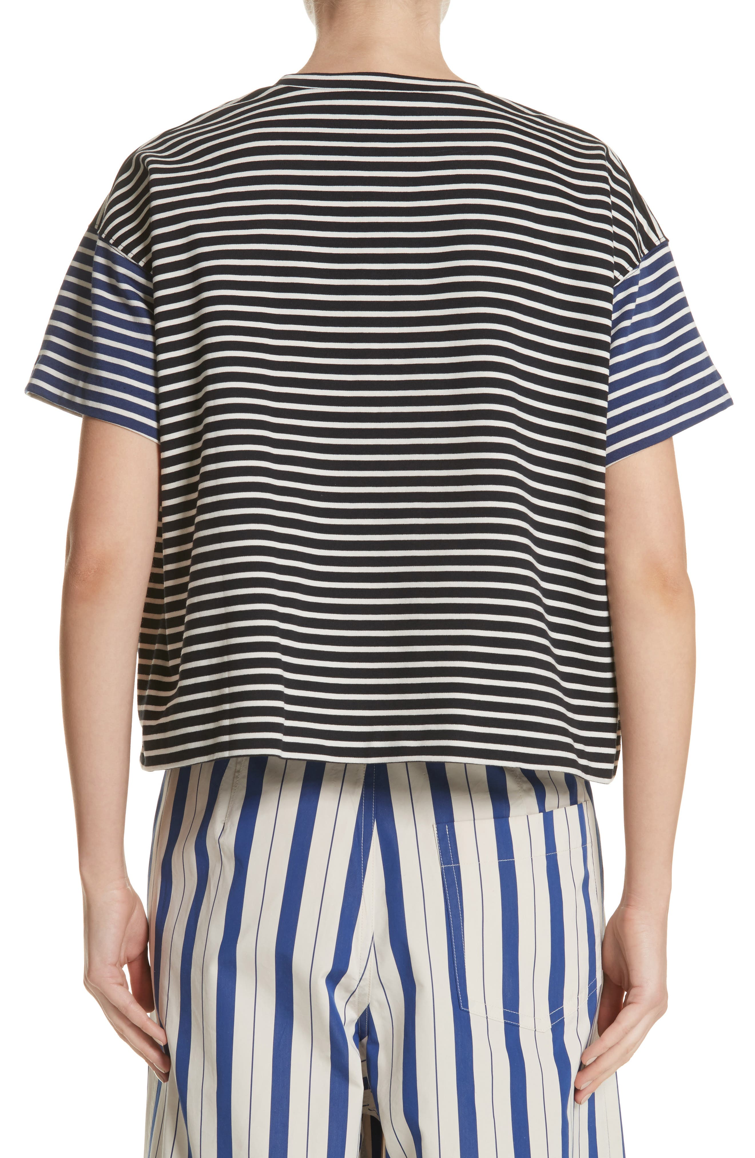 Nautical Stripe Tee,                             Alternate thumbnail 2, color,                             1 Navy/ Blumarine