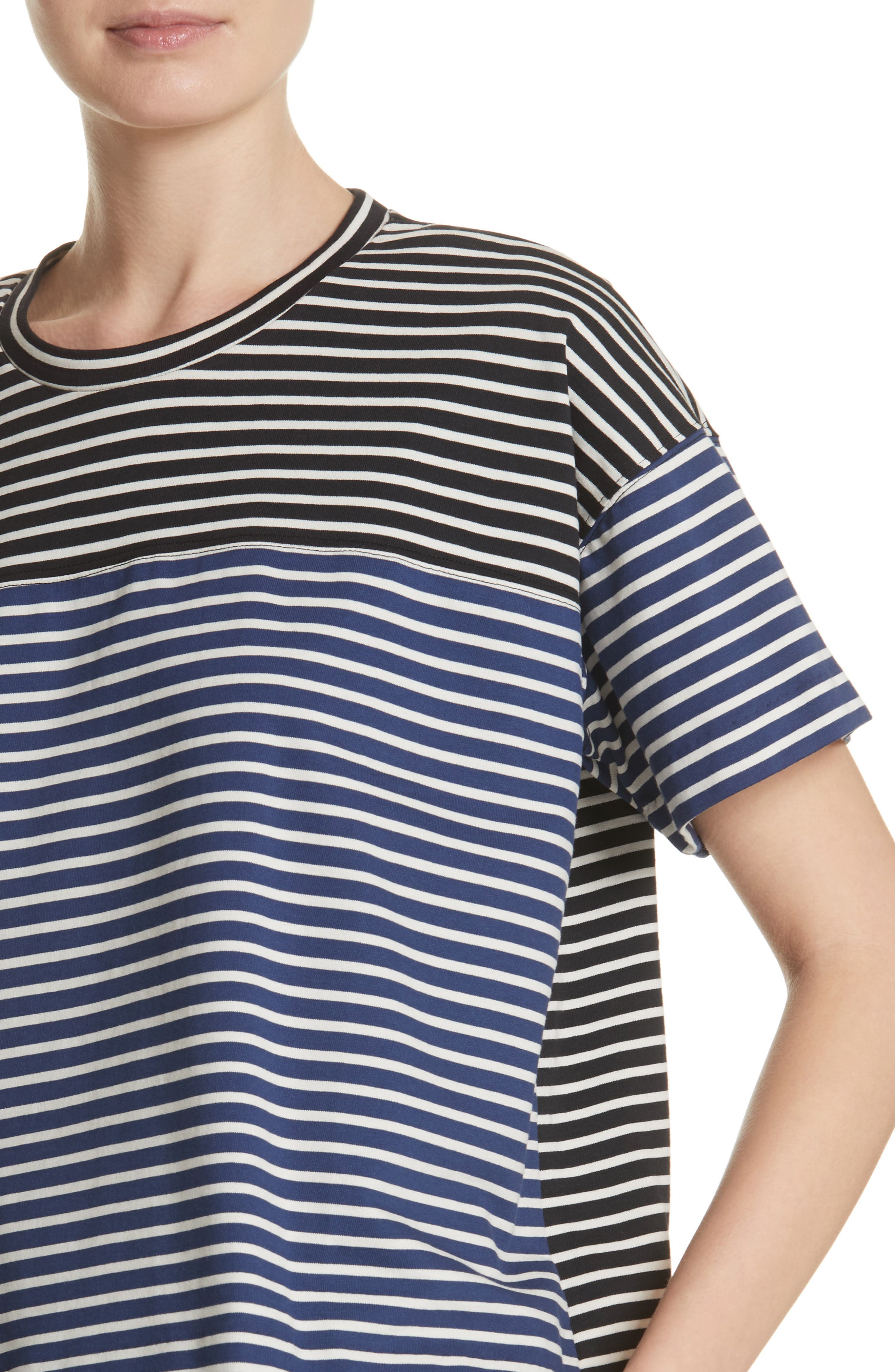 Nautical Stripe Tee,                             Alternate thumbnail 4, color,                             1 Navy/ Blumarine