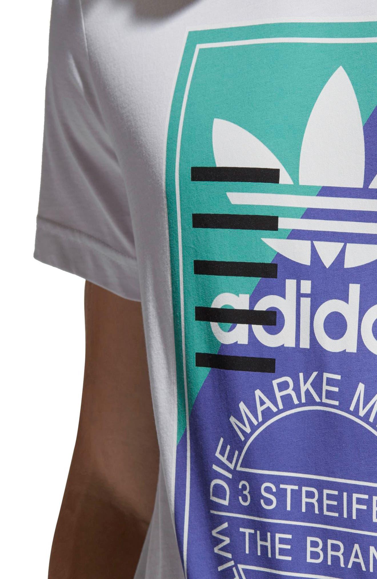 Tongue Label T-Shirt,                             Alternate thumbnail 4, color,                             White