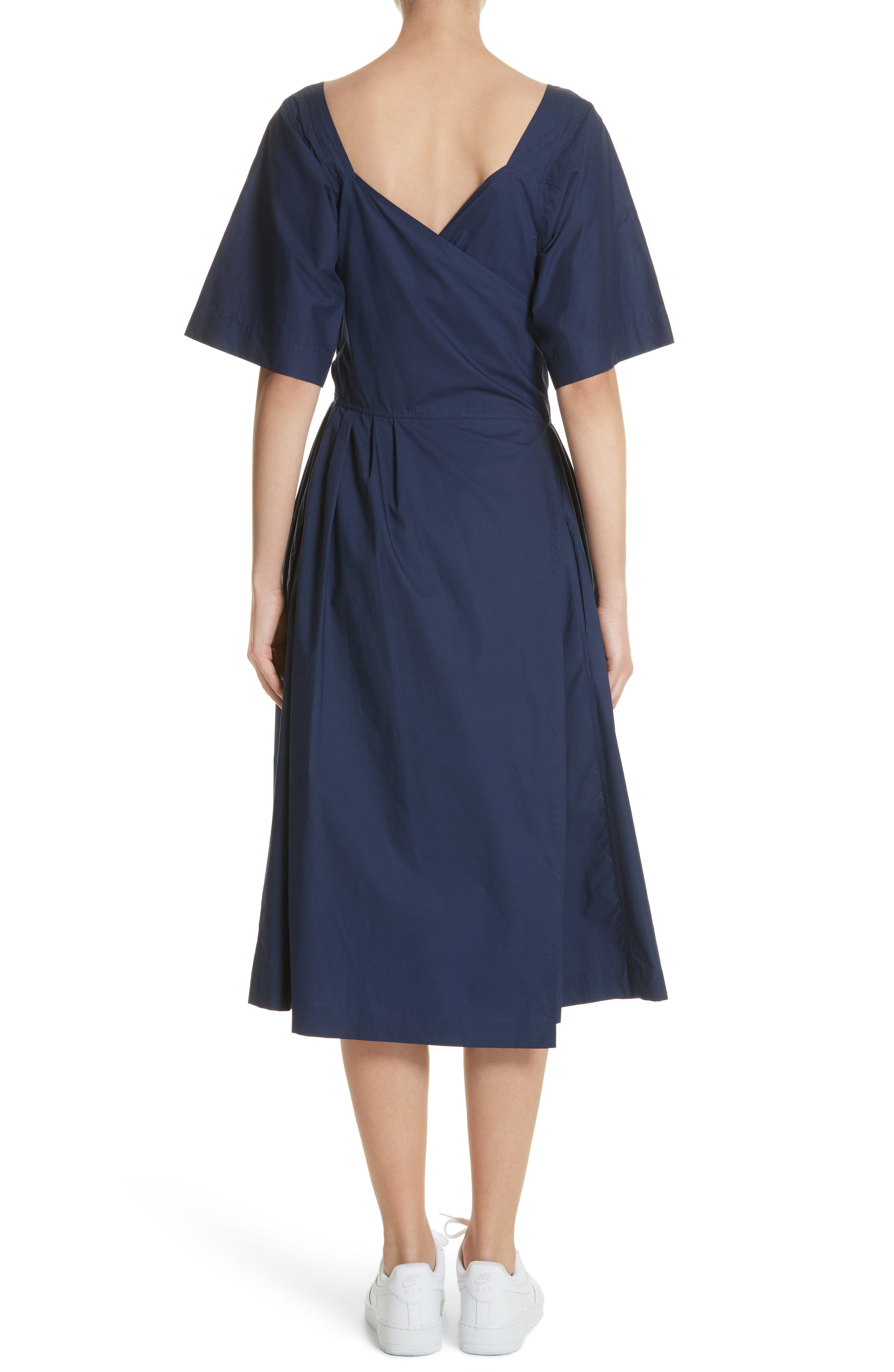 Tie Waist Dress,                             Alternate thumbnail 2, color,                             Matelot
