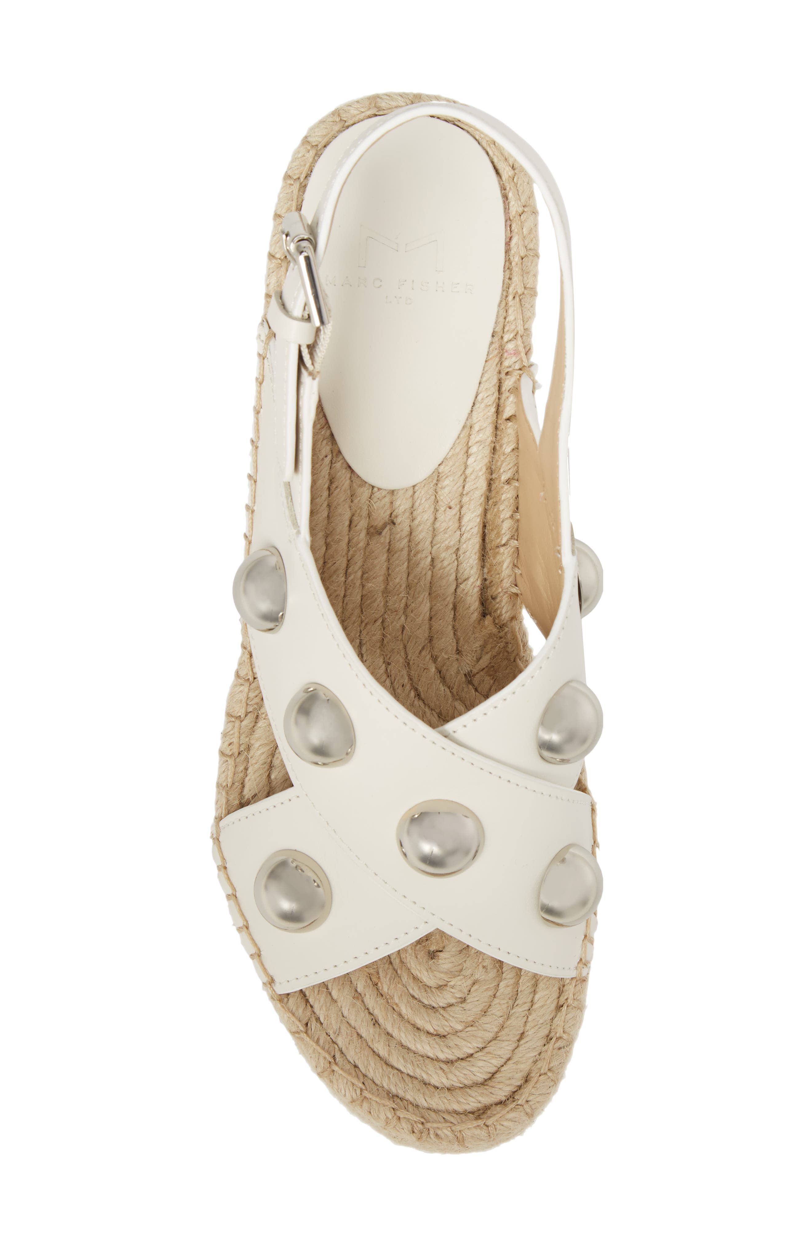 Rella Espadrille Platform Sandal,                             Alternate thumbnail 5, color,                             Ivory Leather