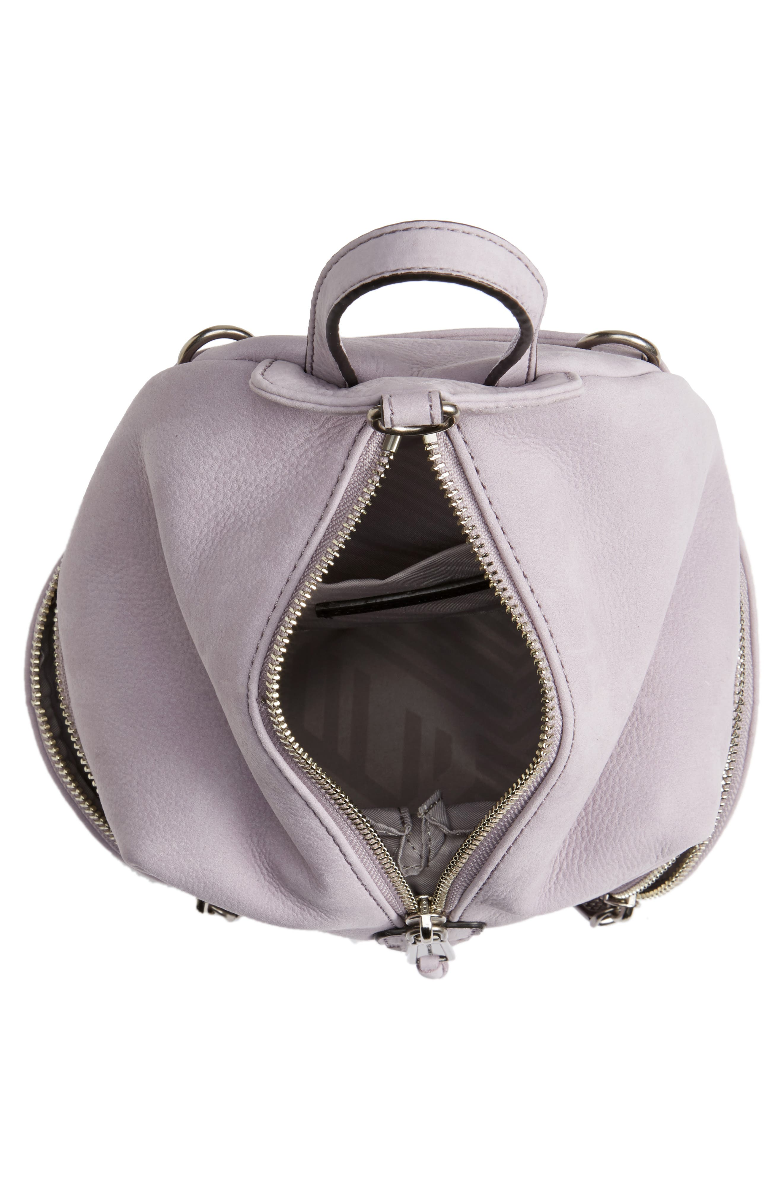 Alternate Image 5  - Rebecca Minkoff Mini Julian Nubuck Leather Convertible Backpack