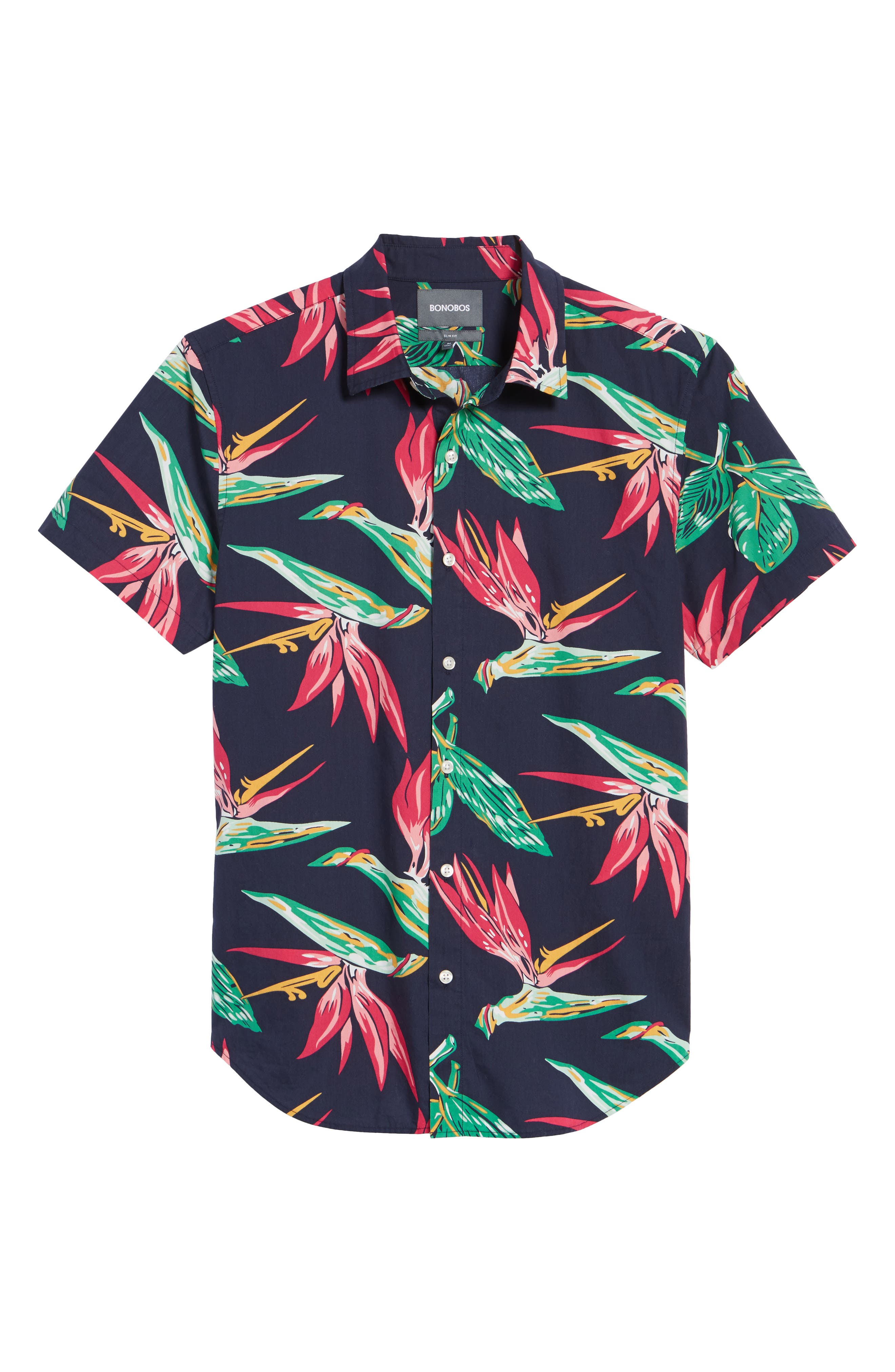 Alternate Image 6  - Bonobos Slim Fit Print Short Sleeve Sport Shirt