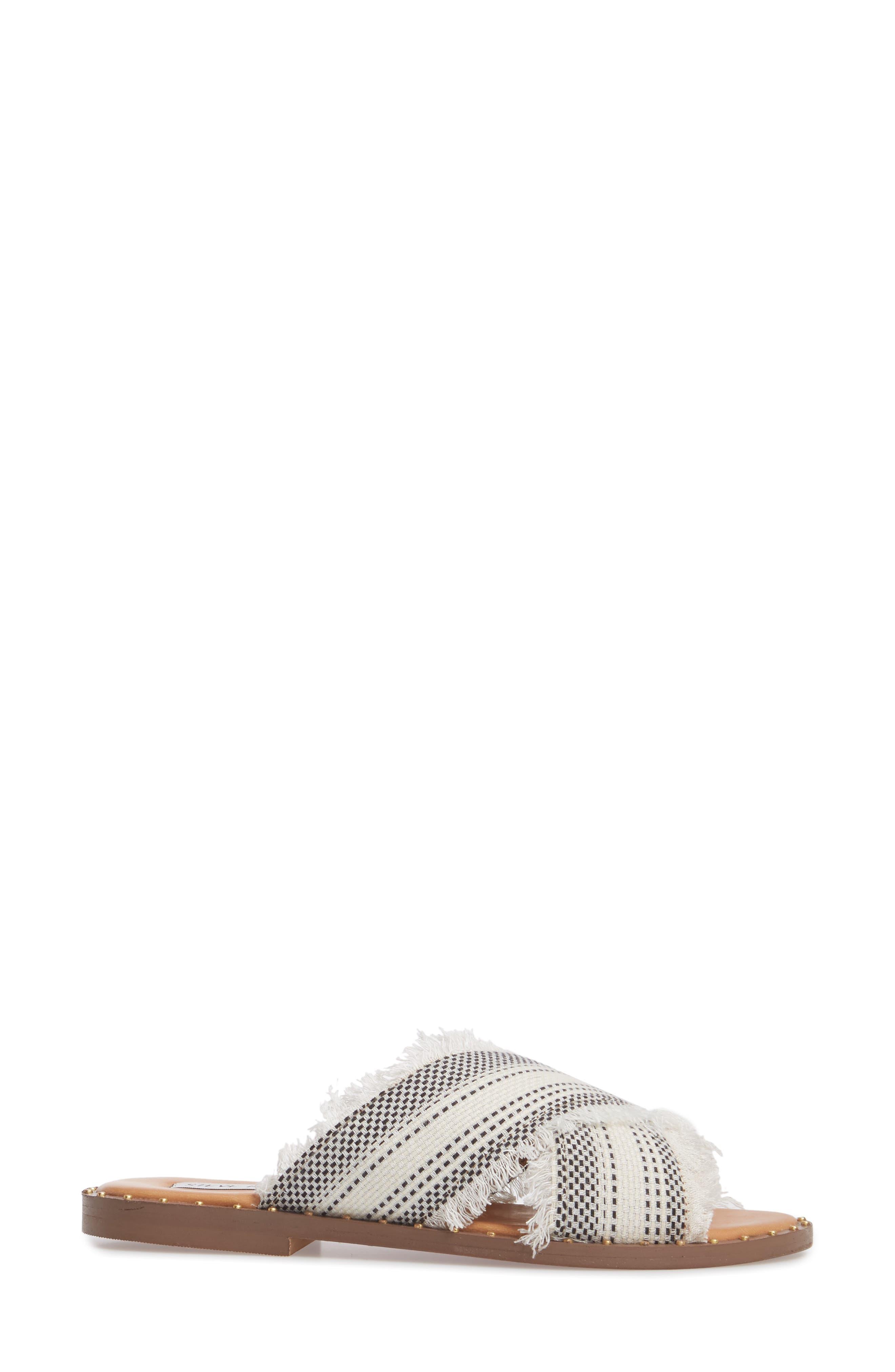 Riva Slide Sandal,                             Alternate thumbnail 3, color,                             White Multi