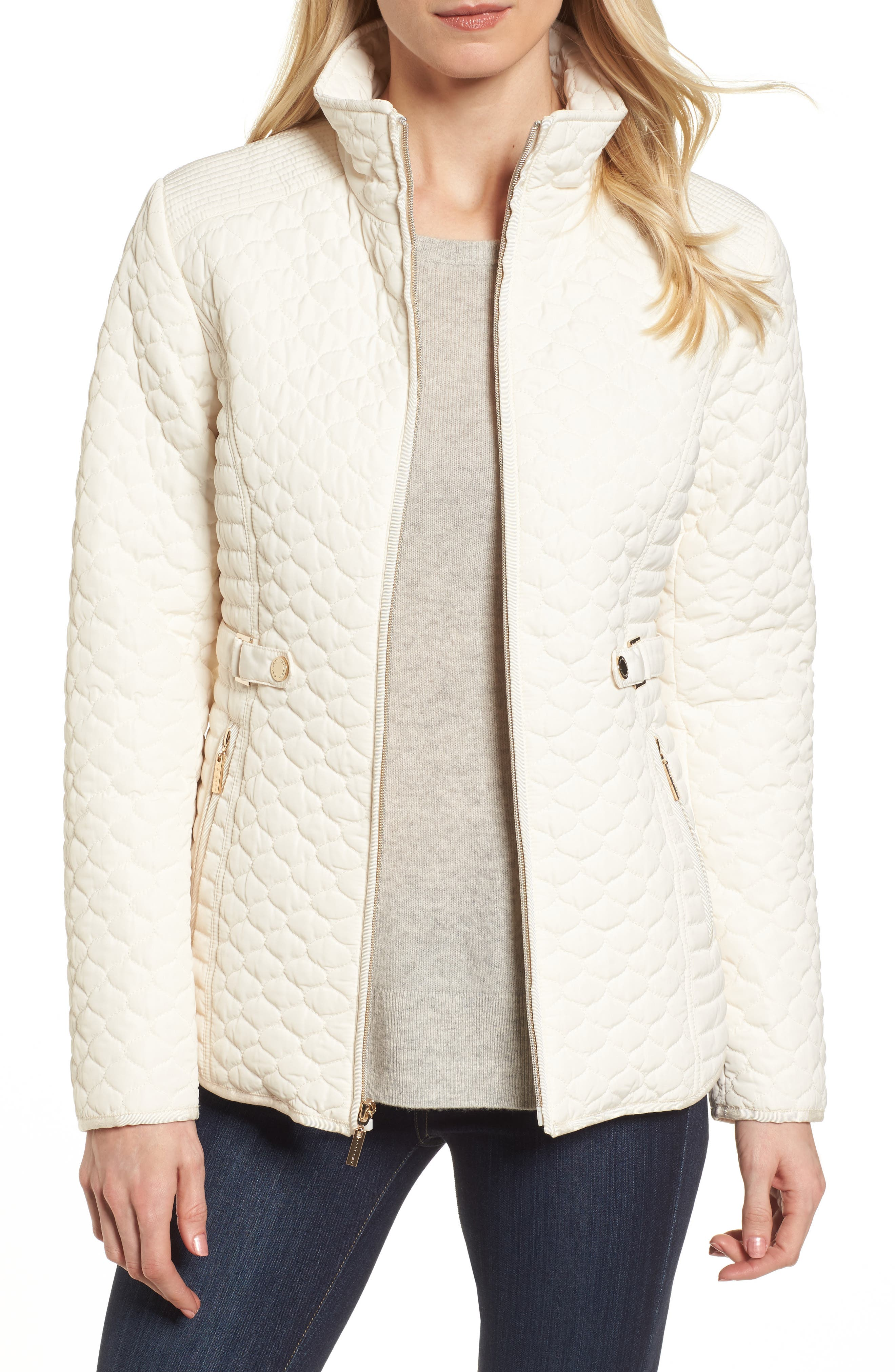 Gallery Quilted Stand Collar Jacket