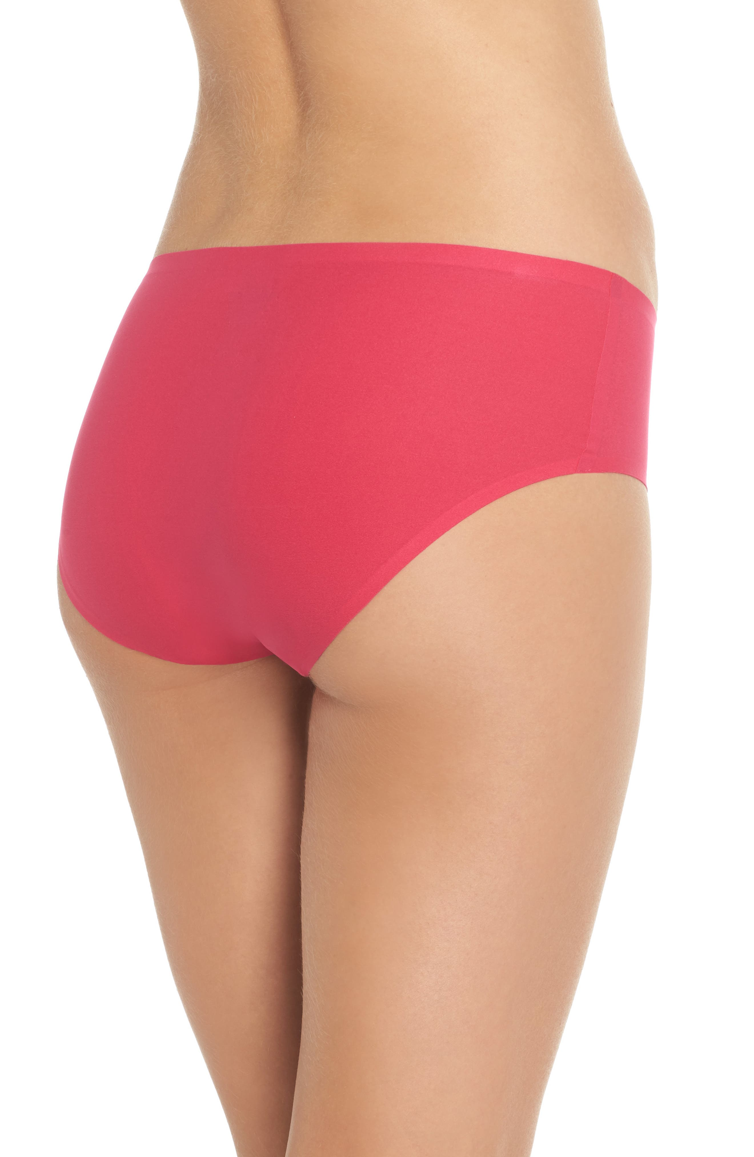 Soft Stretch Seamless Hipster Panties,                             Alternate thumbnail 2, color,                             Raspberry