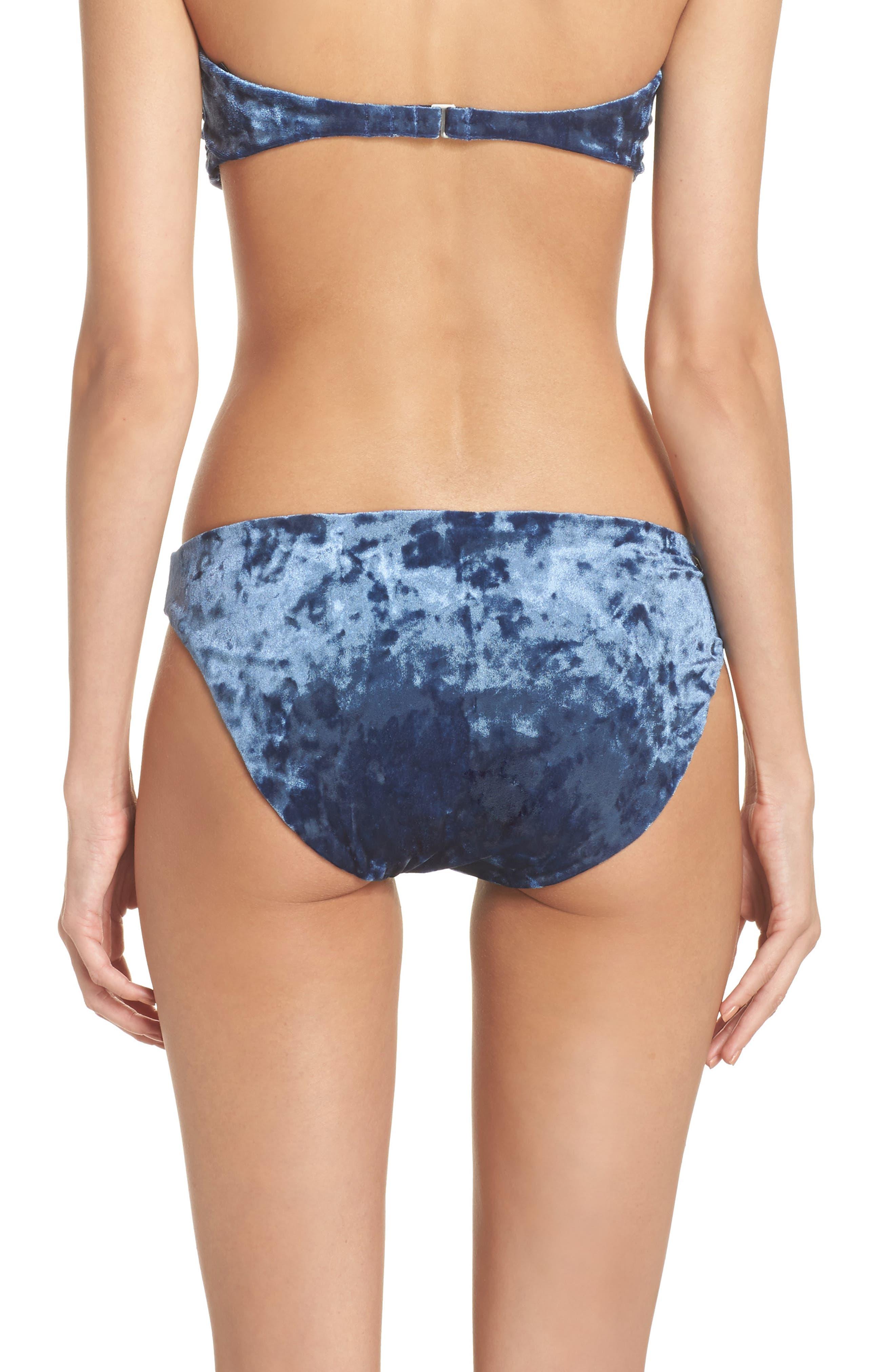 Velvet Bikini Bottoms,                             Alternate thumbnail 2, color,                             Dusk