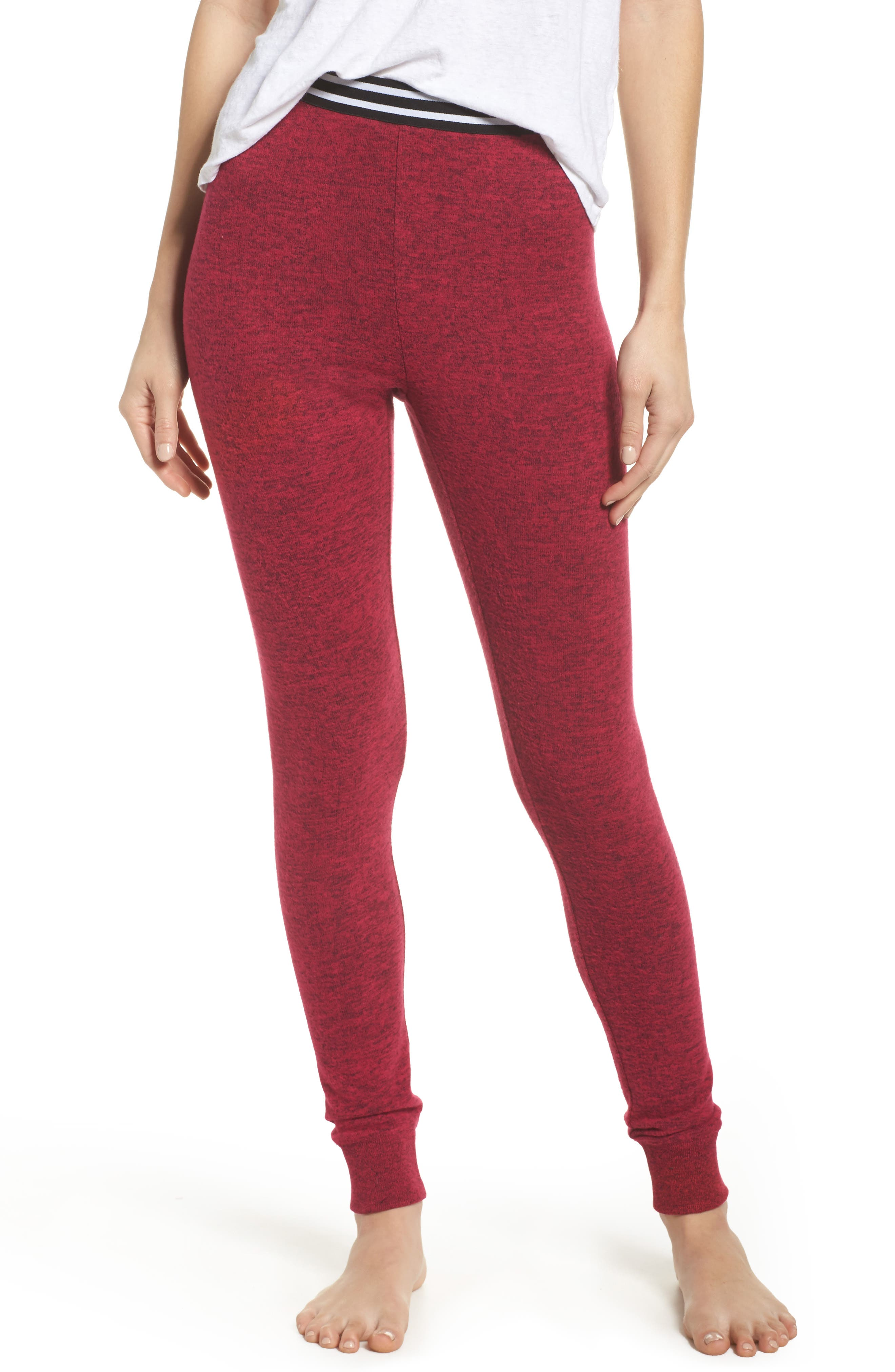 Cuddle Up Lounge Leggings,                         Main,                         color, Pink Vivacious Marl