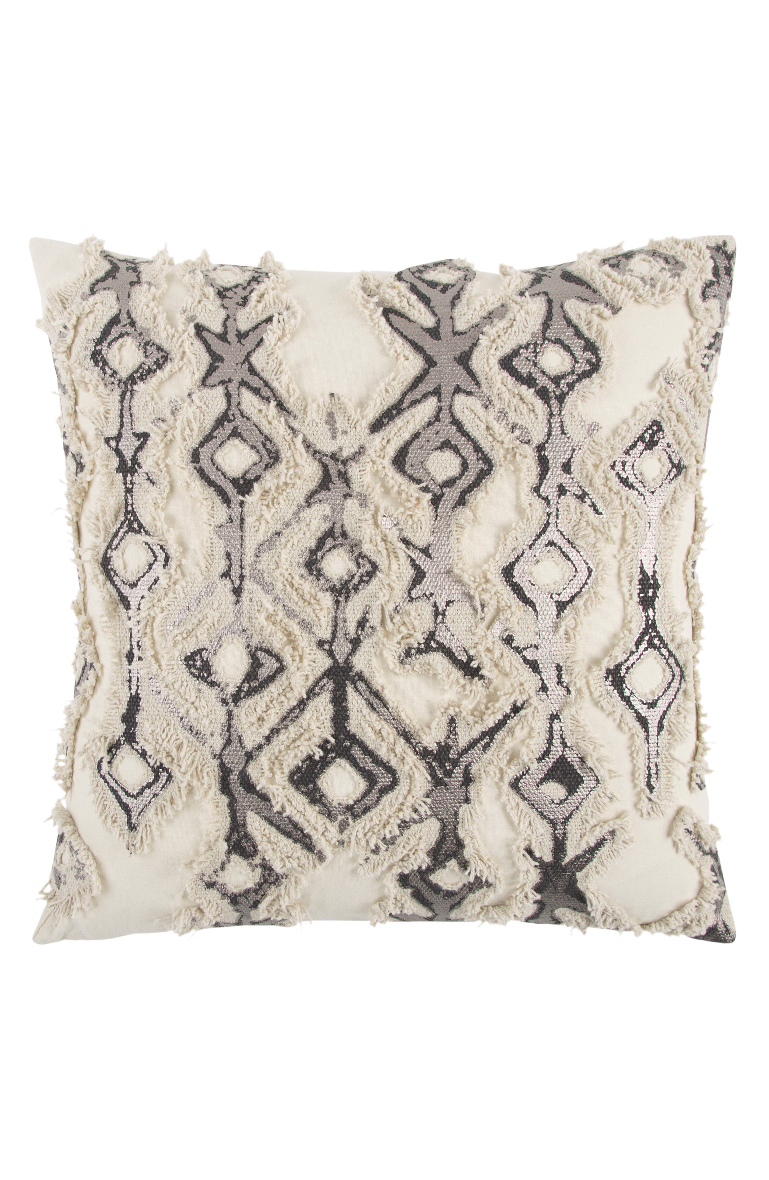 Geometric Pillow,                             Main thumbnail 1, color,                             Grey