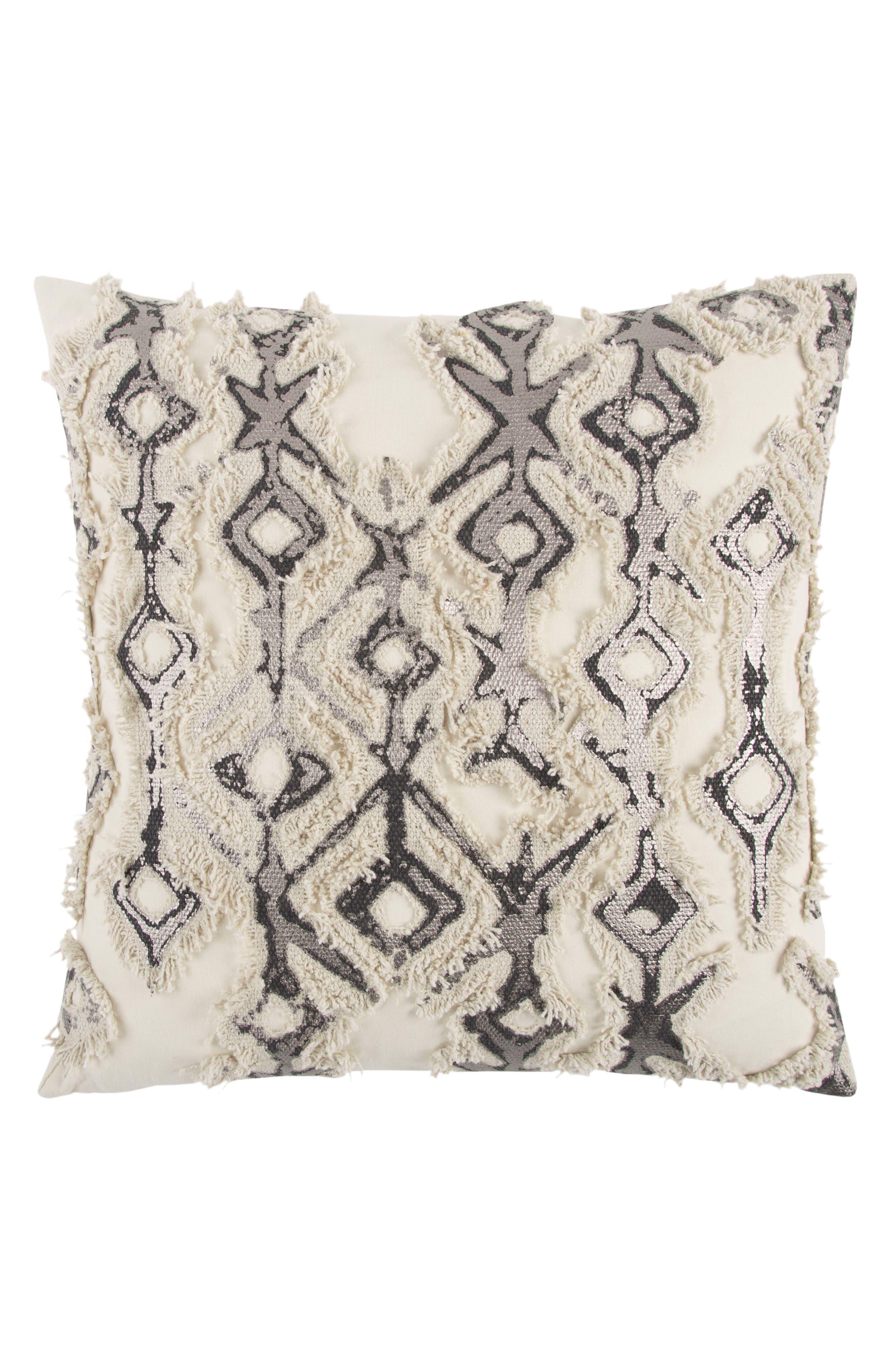 Geometric Pillow,                         Main,                         color, Grey
