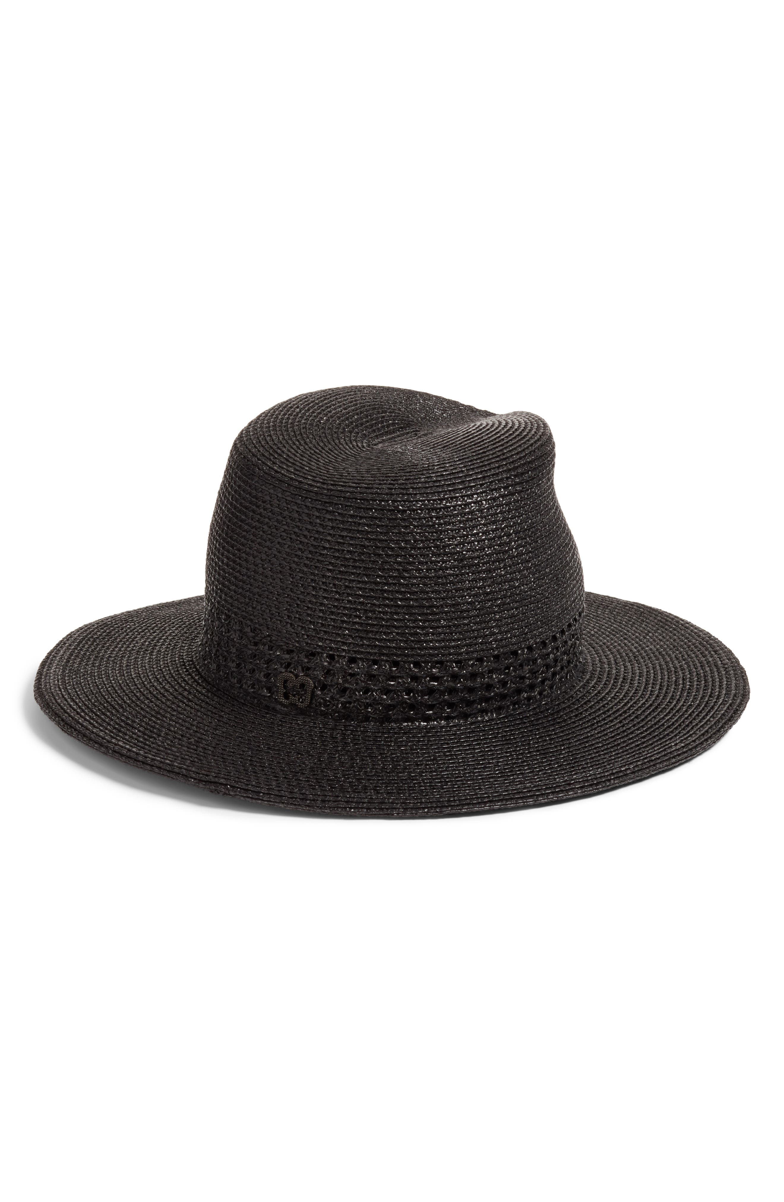 Bayou Packable Squishee<sup>®</sup> Fedora,                             Alternate thumbnail 2, color,                             Black