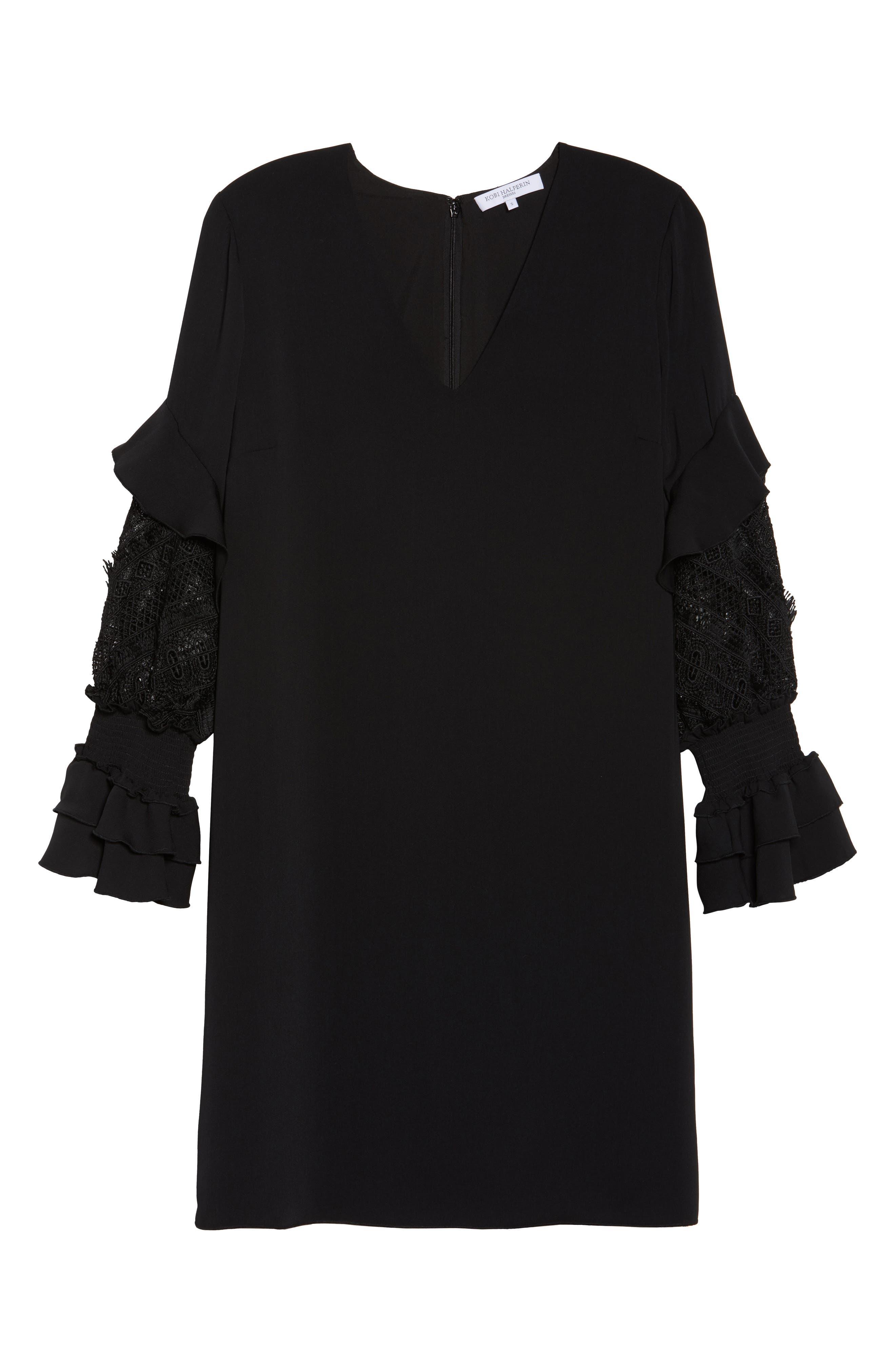 Alternate Image 6  - Kobi Halperin Alda Lace Sleeve Shift Dress (Nordstrom Exclusive)