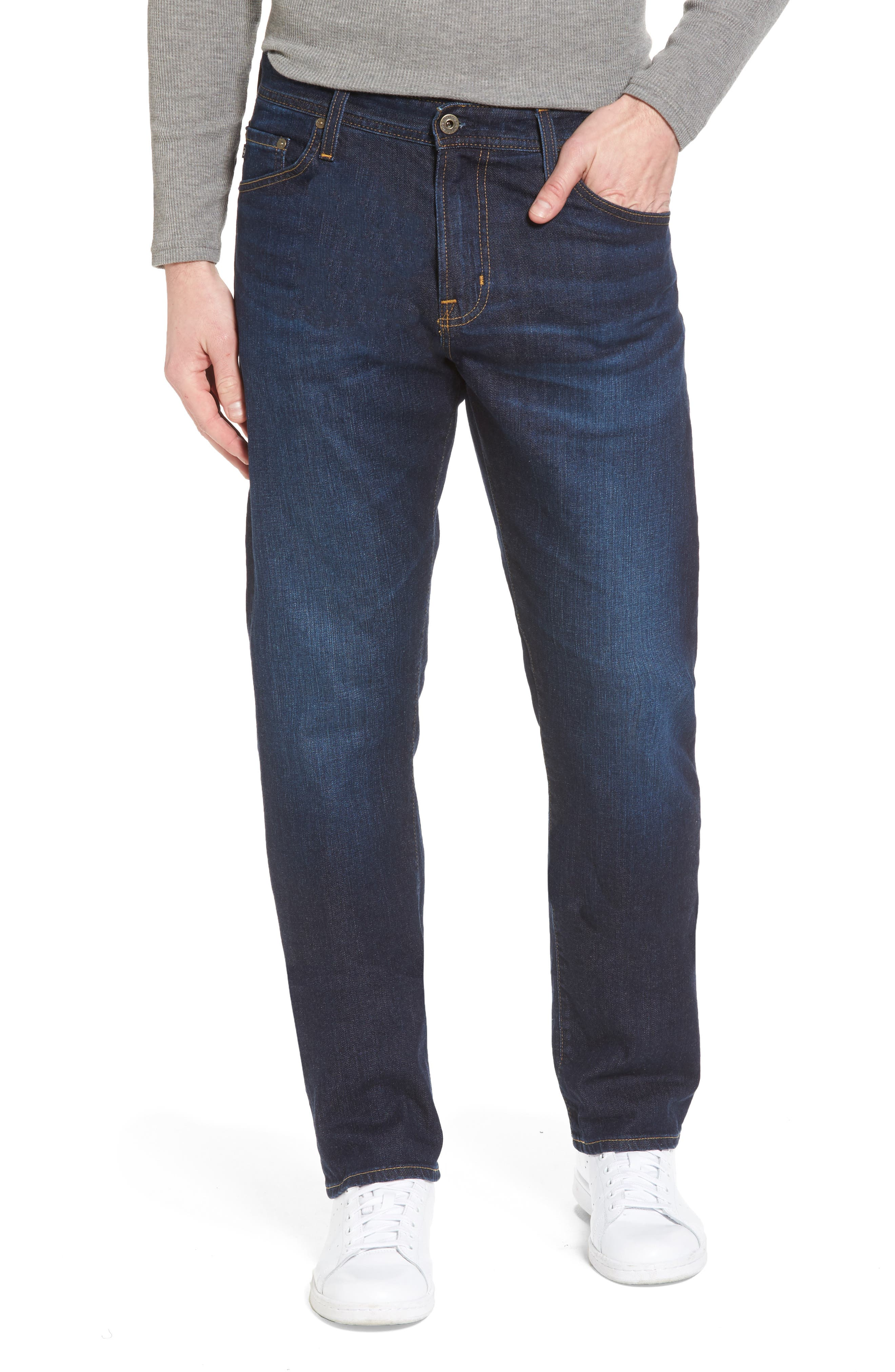 Alternate Image 1 Selected - AG Ives Straight Fit Jeans (Series)