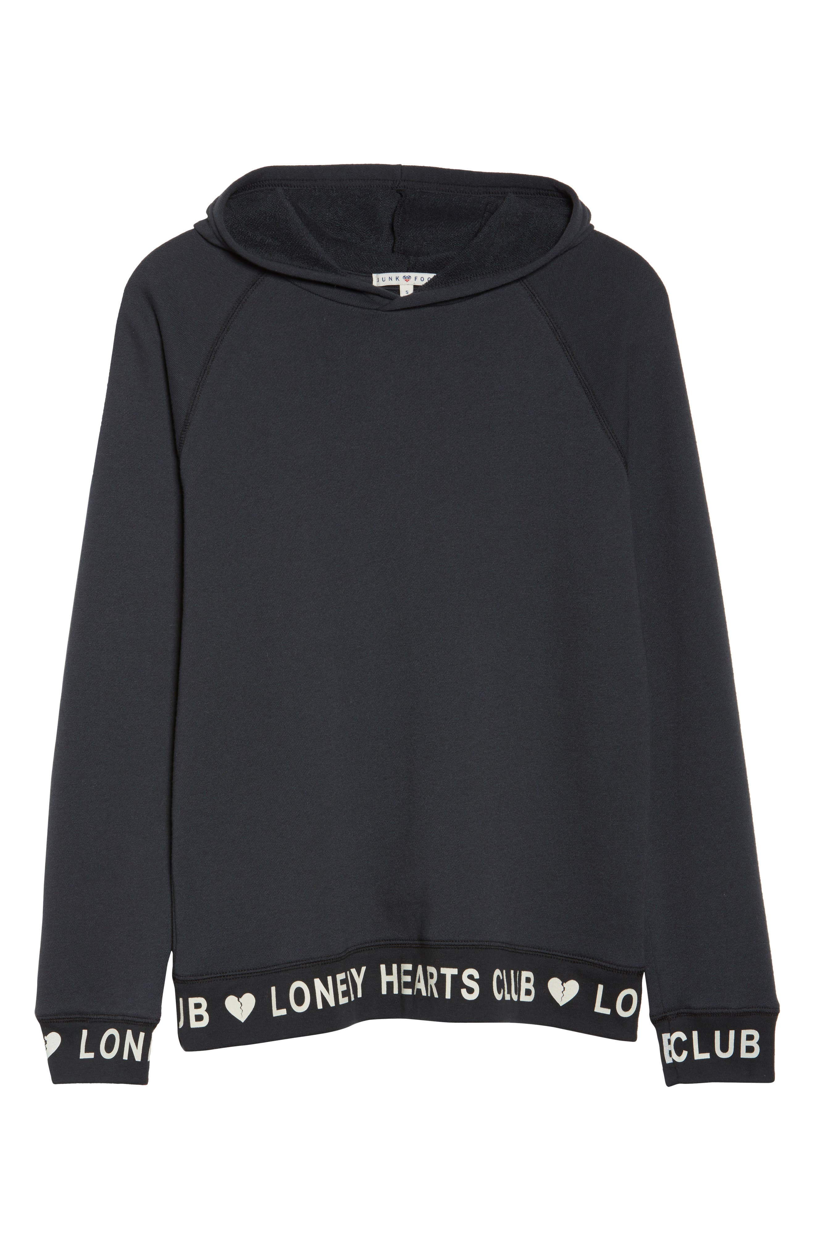 Lonely Hearts Club Hoodie,                             Alternate thumbnail 4, color,                             Jet Black
