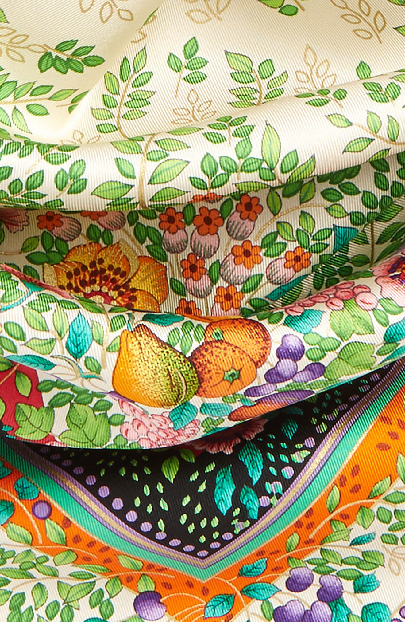 Alternate Image 3  - Gucci Liberty Flowers Fouland Silk Square Scarf