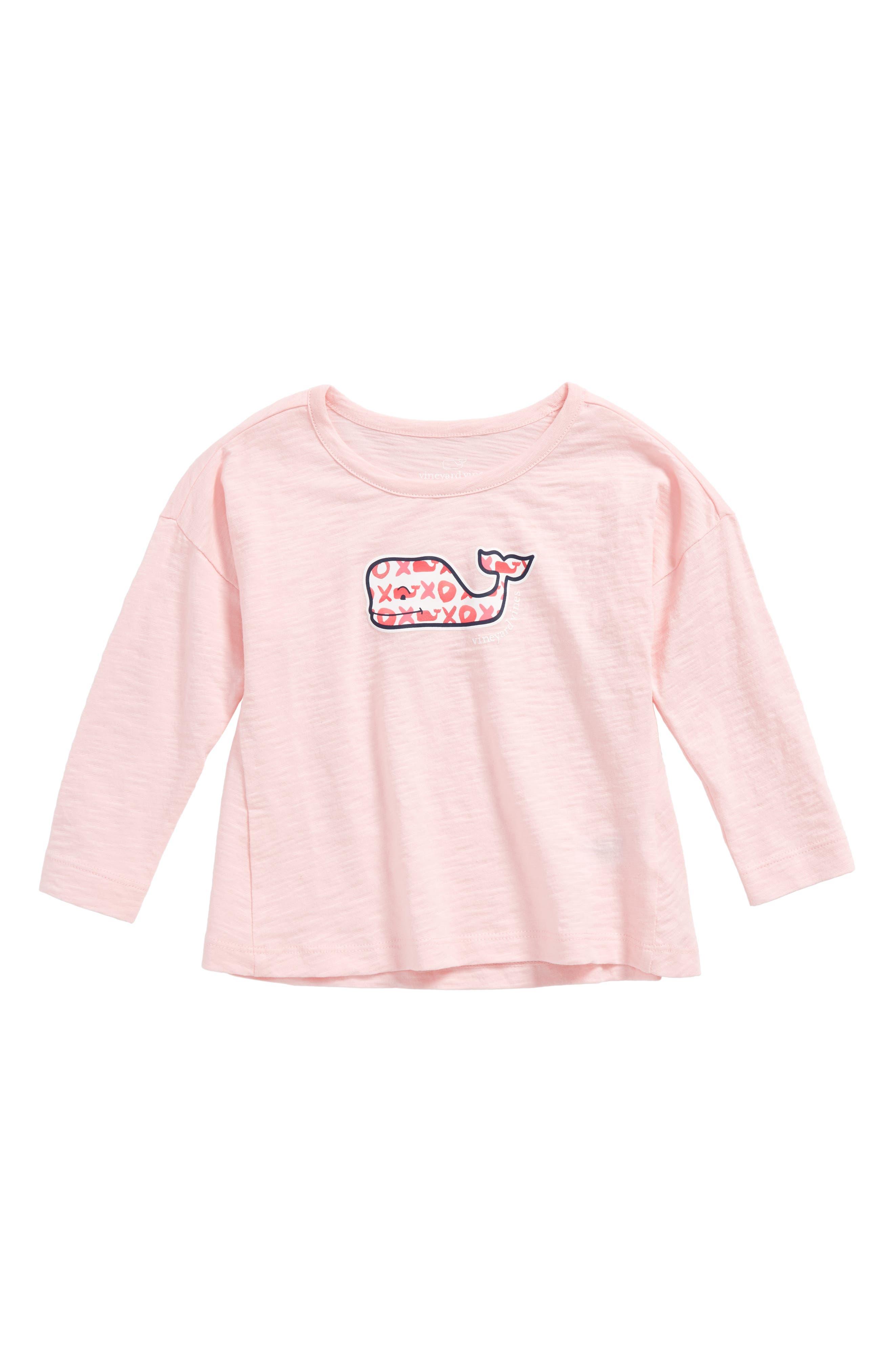 Whale Logo Swing Tee,                         Main,                         color, Flamingo