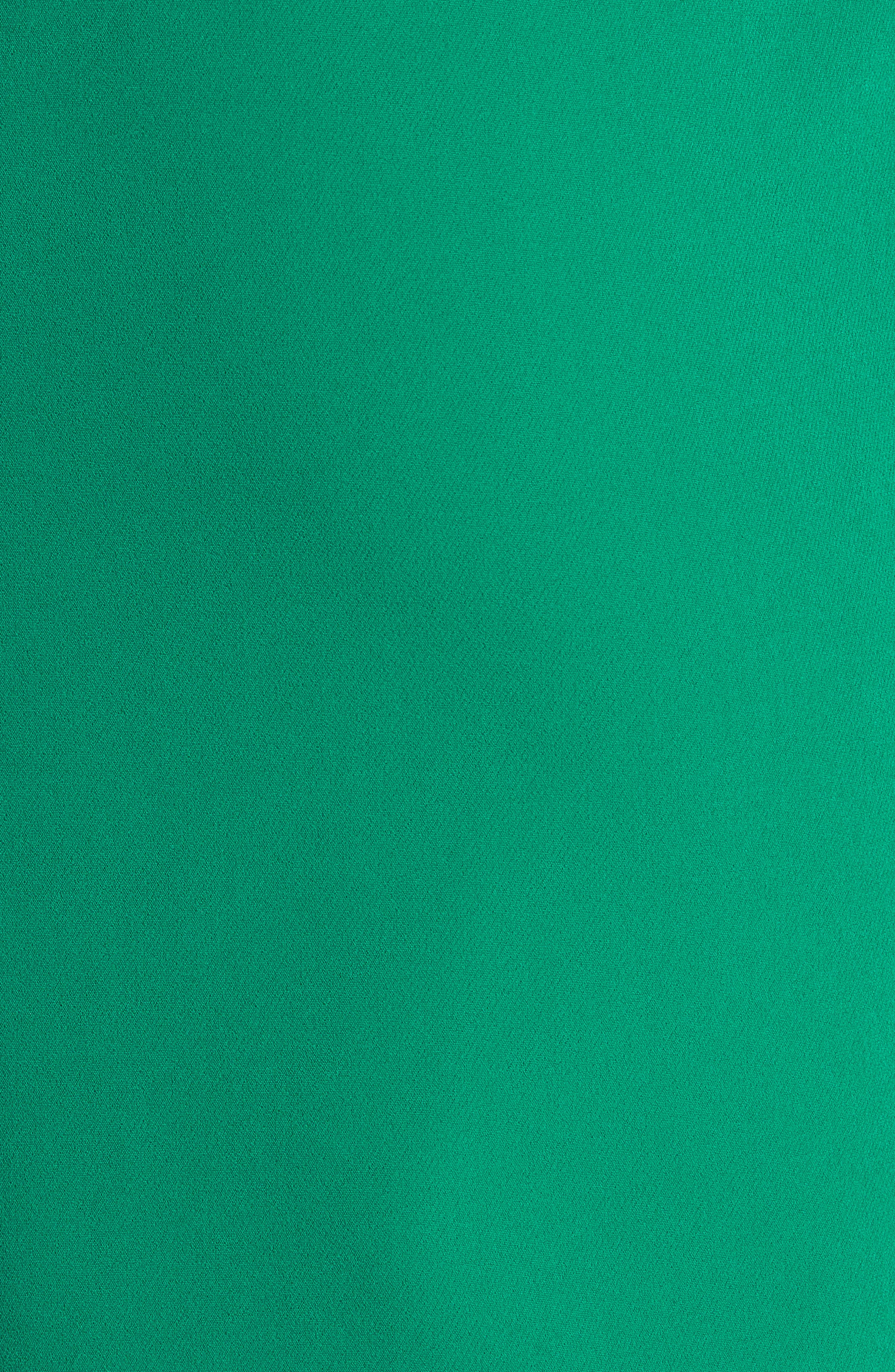 Luna Cutout Detail Crepe Sheath Dress,                             Alternate thumbnail 5, color,                             Emerald