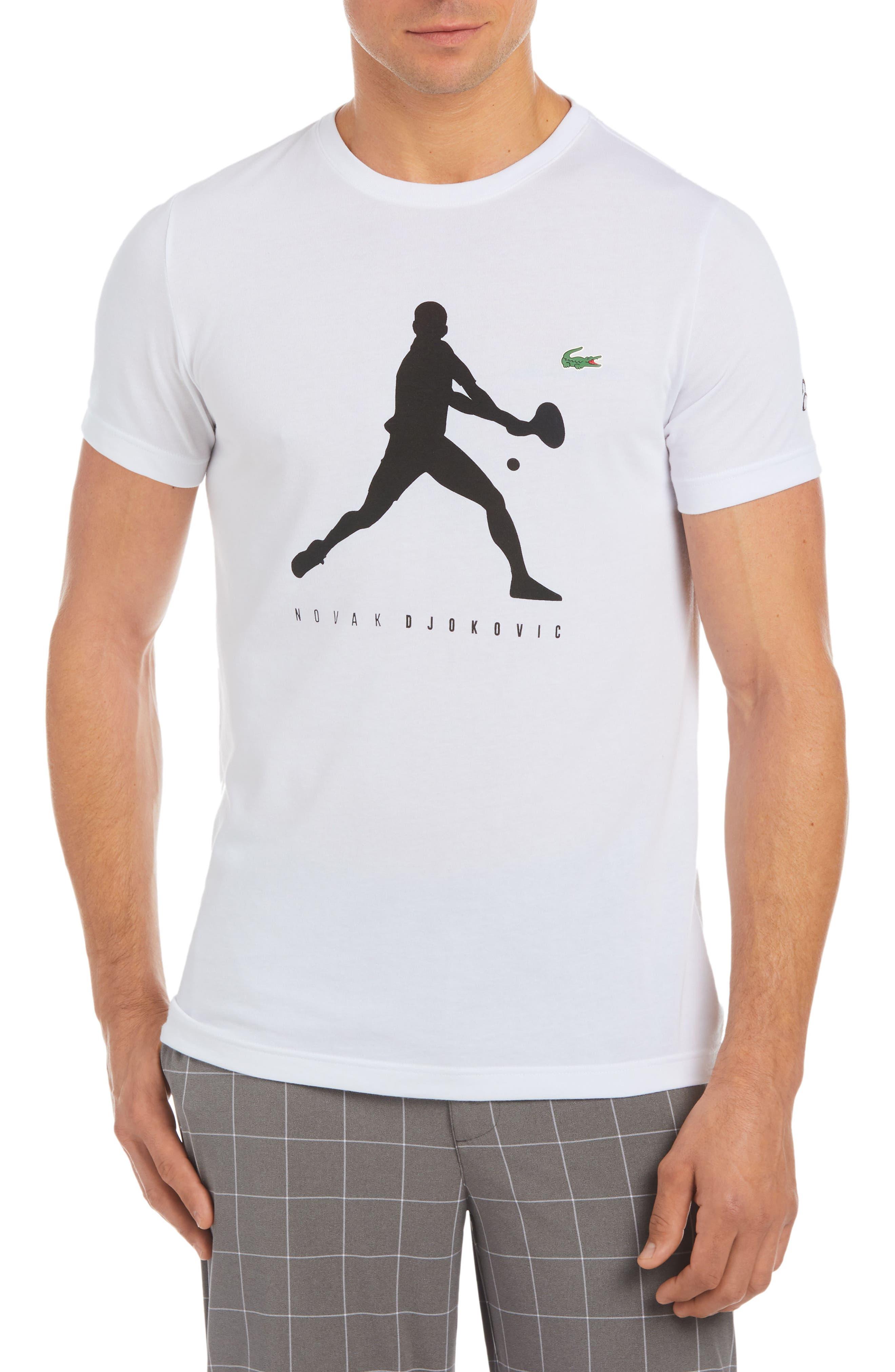 Extensible T-Shirt,                         Main,                         color, White/ Black