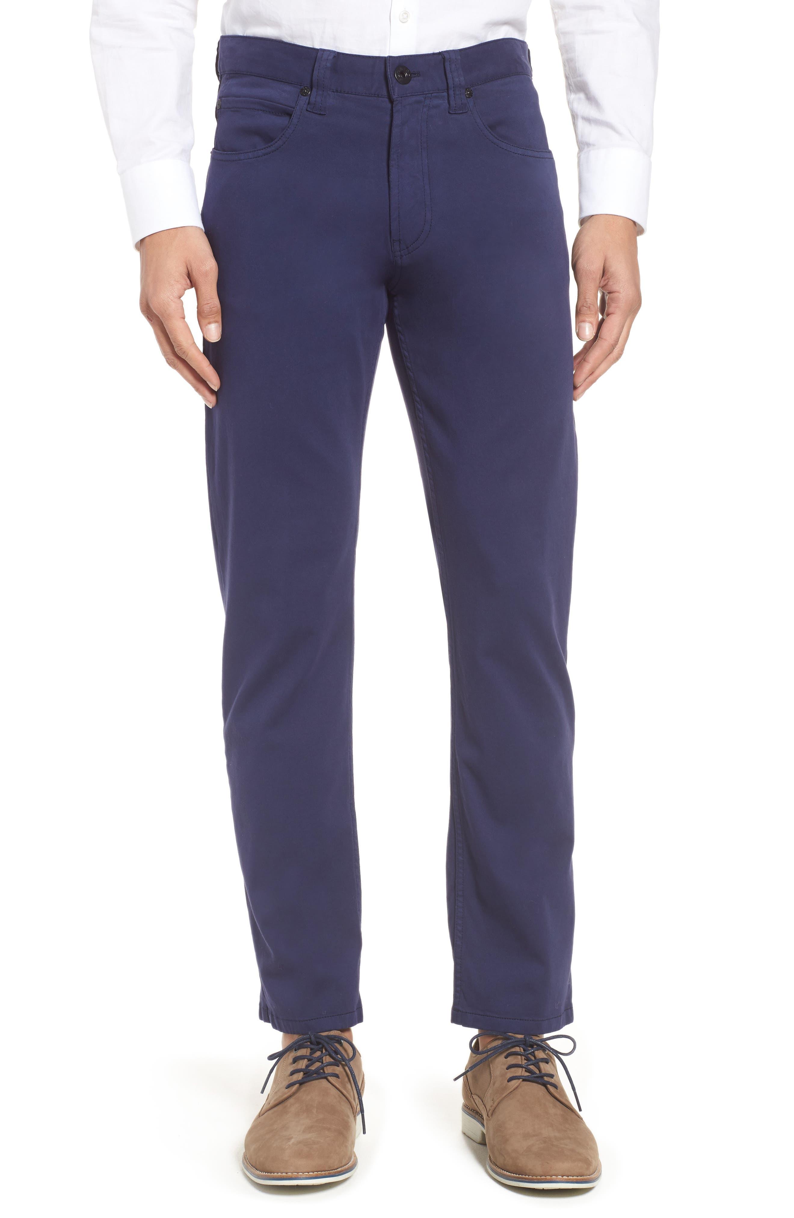 Five-Pocket Straight Leg Pants,                         Main,                         color, Midnight
