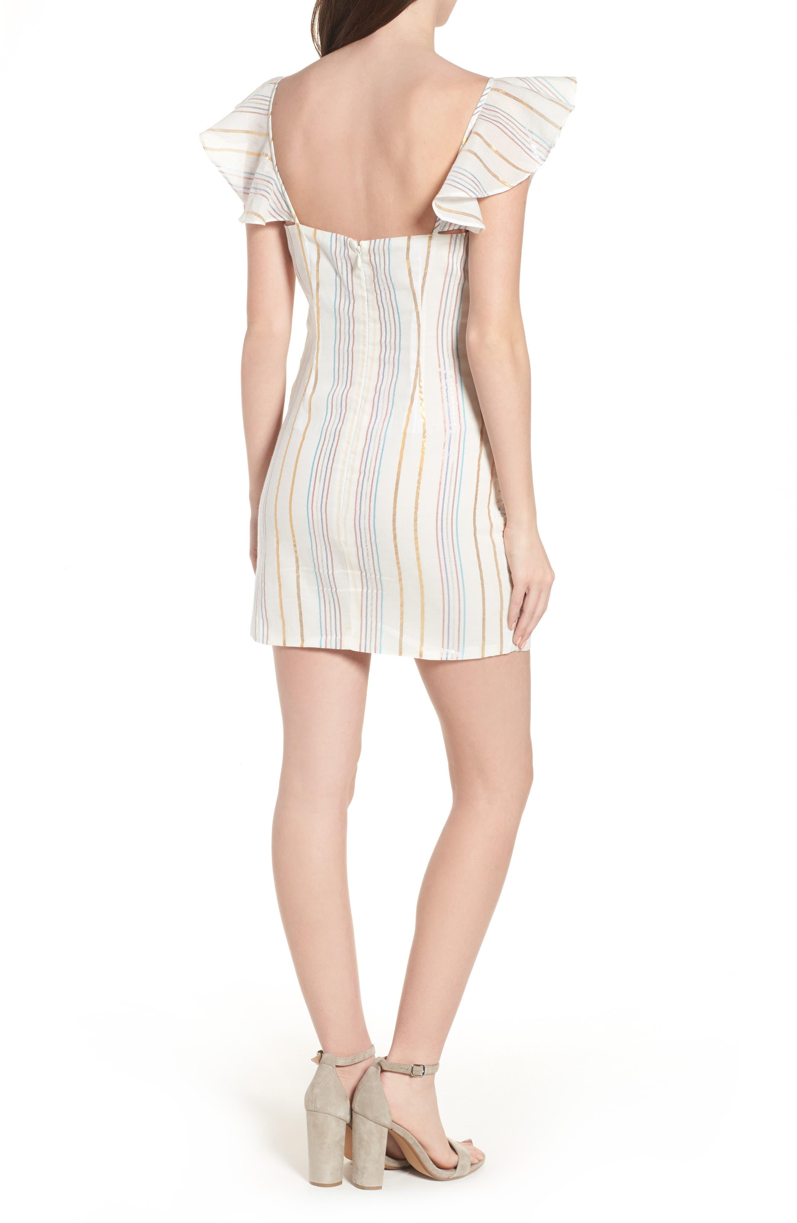 Brittany Ruffle Dress,                             Alternate thumbnail 2, color,                             Marshmallow