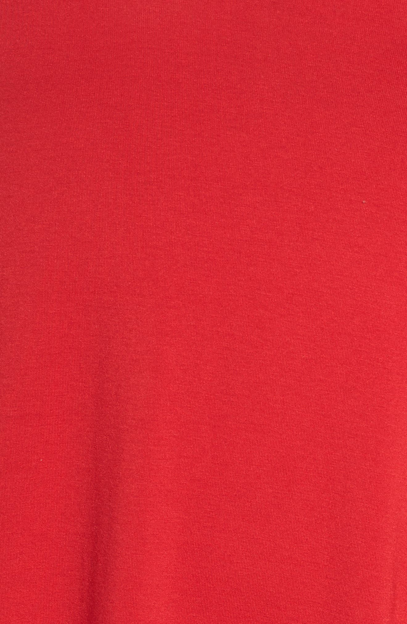 Tulip Sleeve Shift Dress,                             Alternate thumbnail 5, color,                             Red