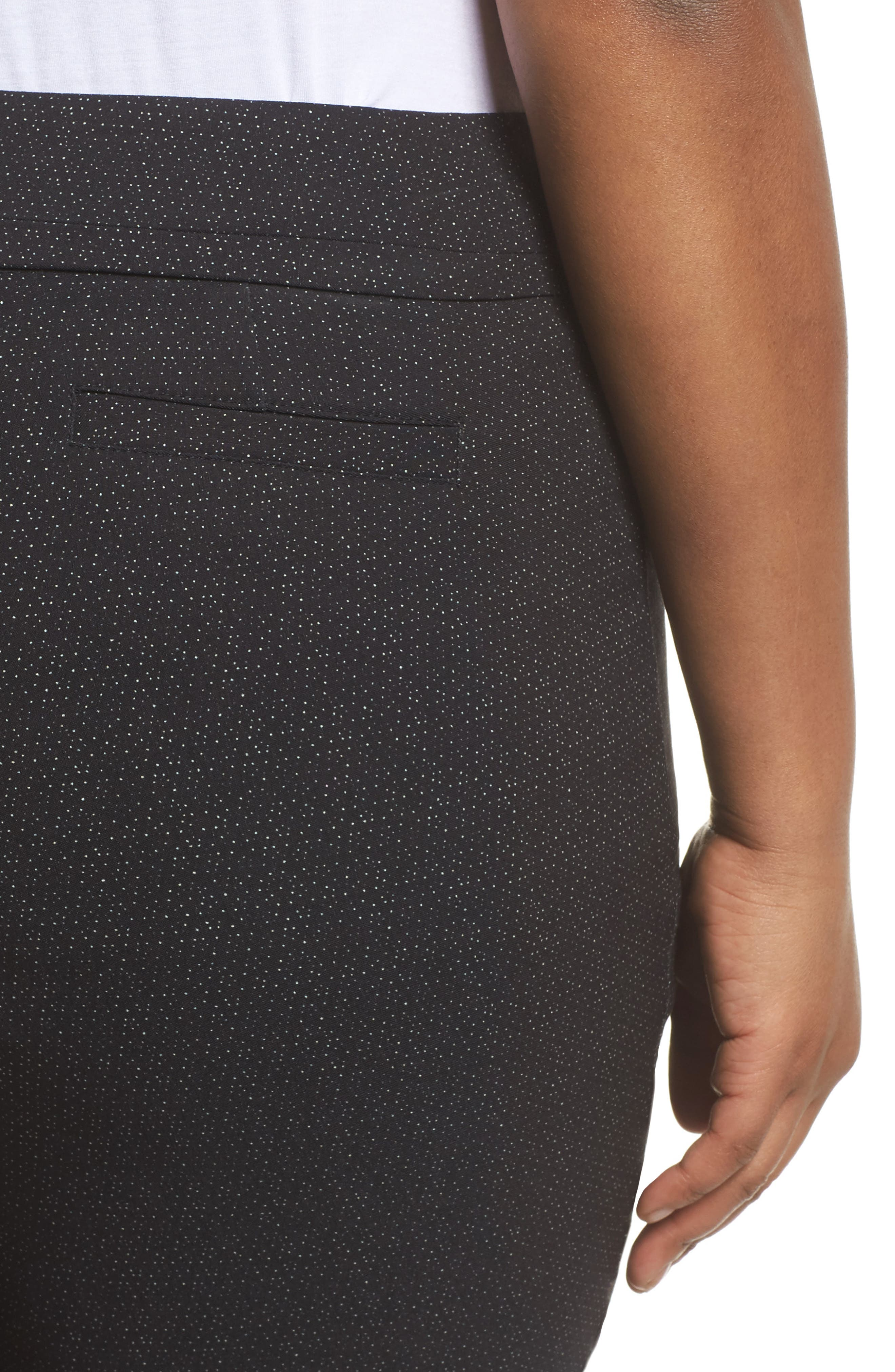 Alternate Image 4  - Sejour Textured Stretch Crop Pants (Plus Size)