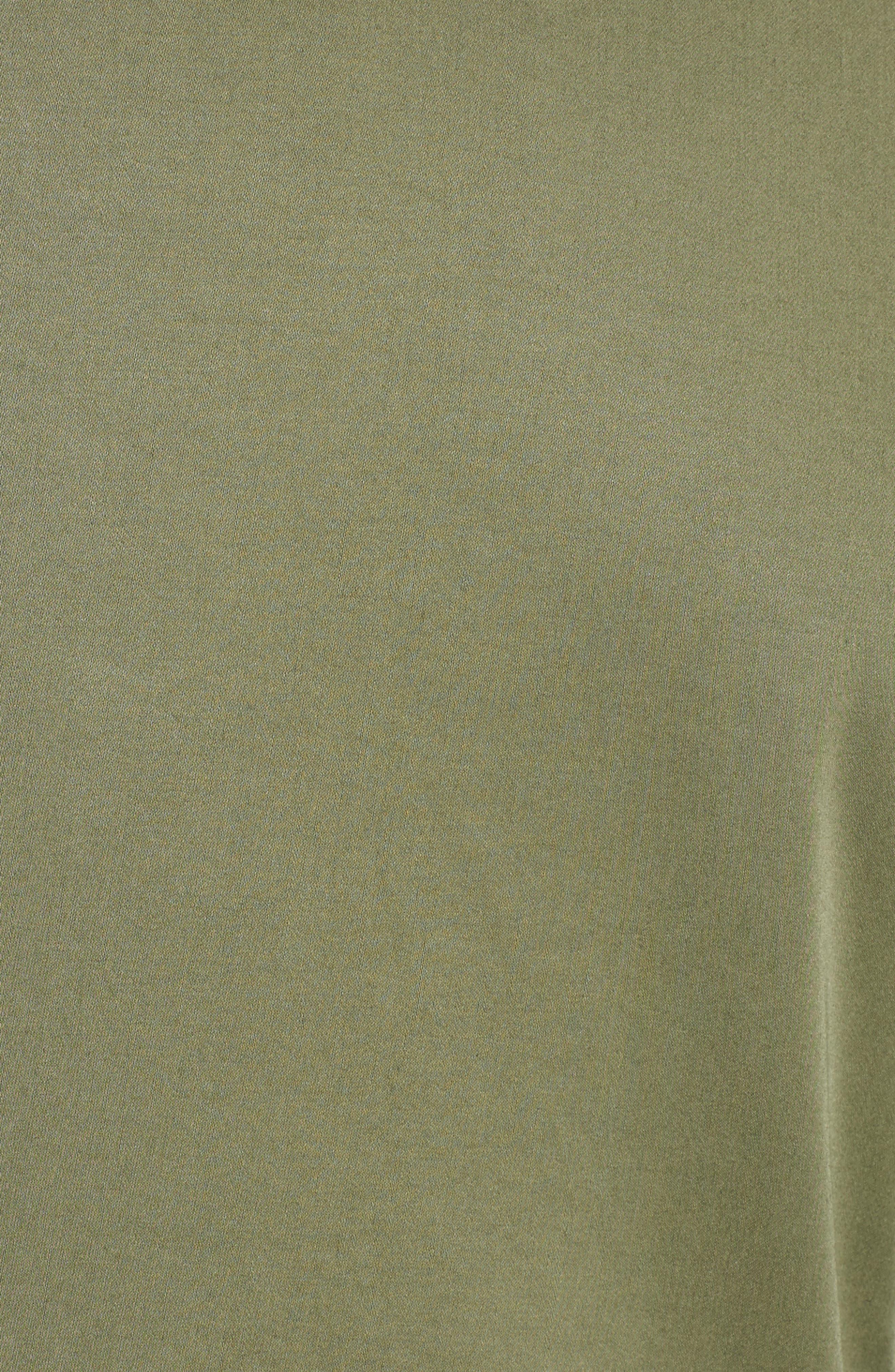 Trim Fit Stretch Cotton Blazer,                             Alternate thumbnail 5, color,                             Medium Green