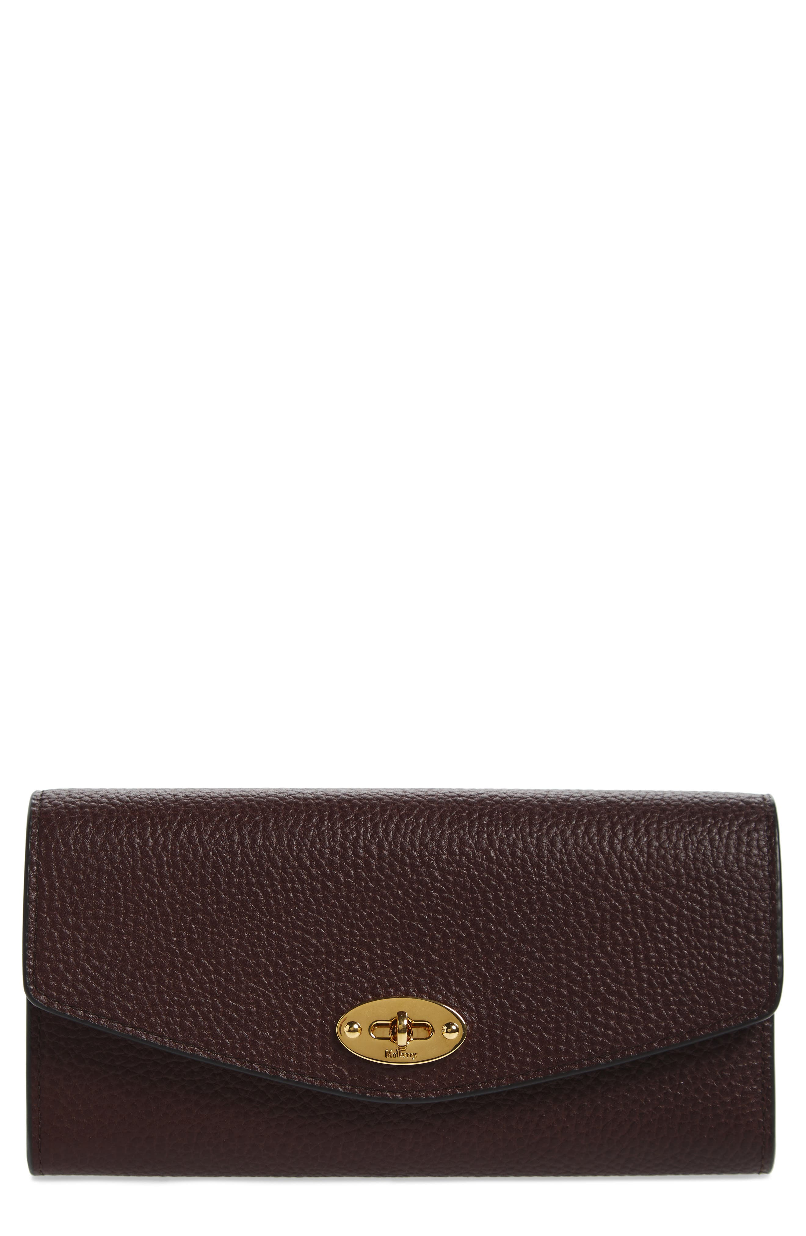 Darley Continental Calfskin Leather Wallet,                         Main,                         color, Oxblood