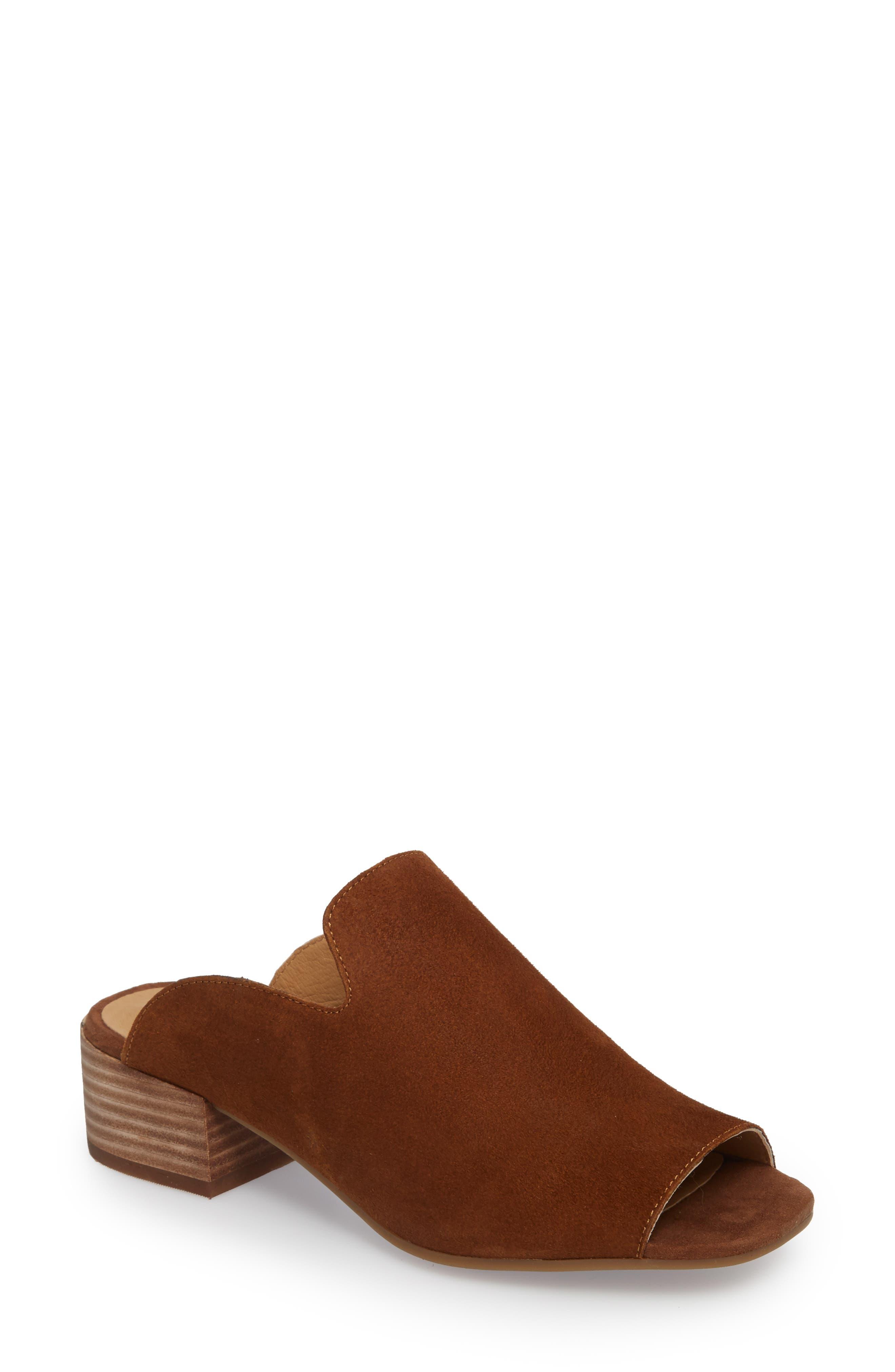 Noomrie Sandal,                             Main thumbnail 1, color,                             Cedar Leather