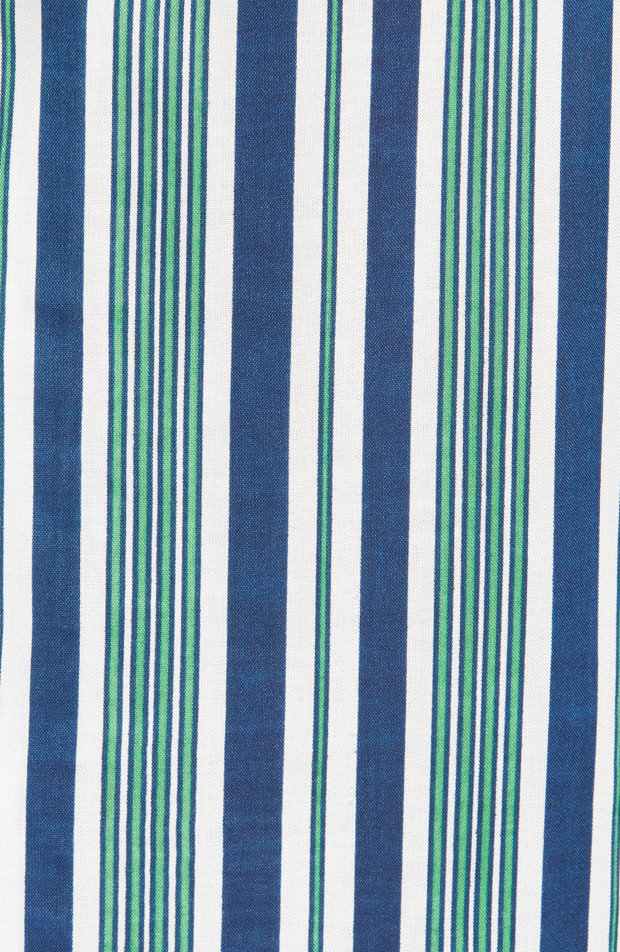 Bay Stripe Woven Shirt,                             Alternate thumbnail 5, color,                             Green