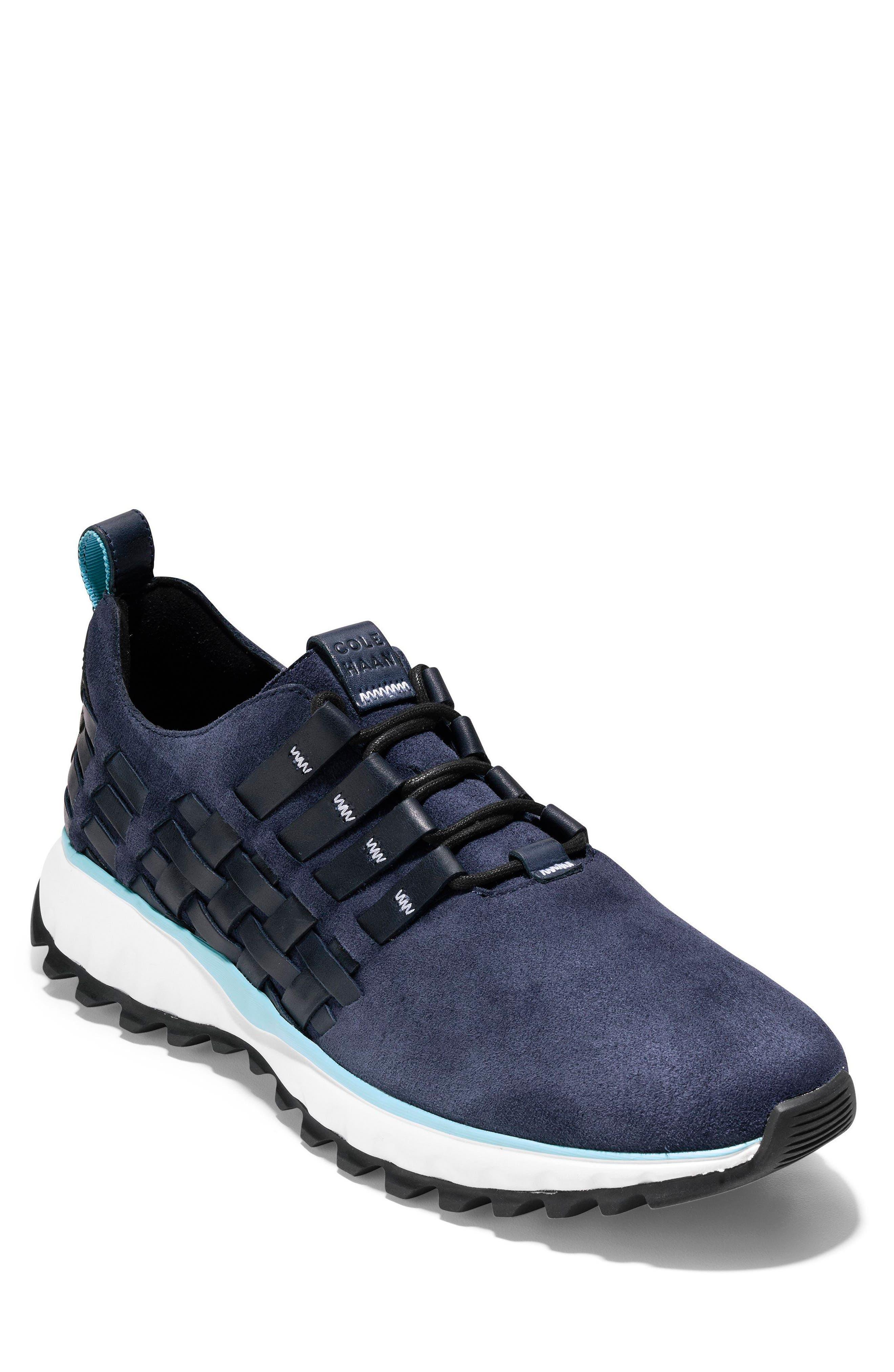 GrandExplore All Terrain Woven Sneaker,                             Main thumbnail 1, color,                             Marine Blue/Optic White/Black