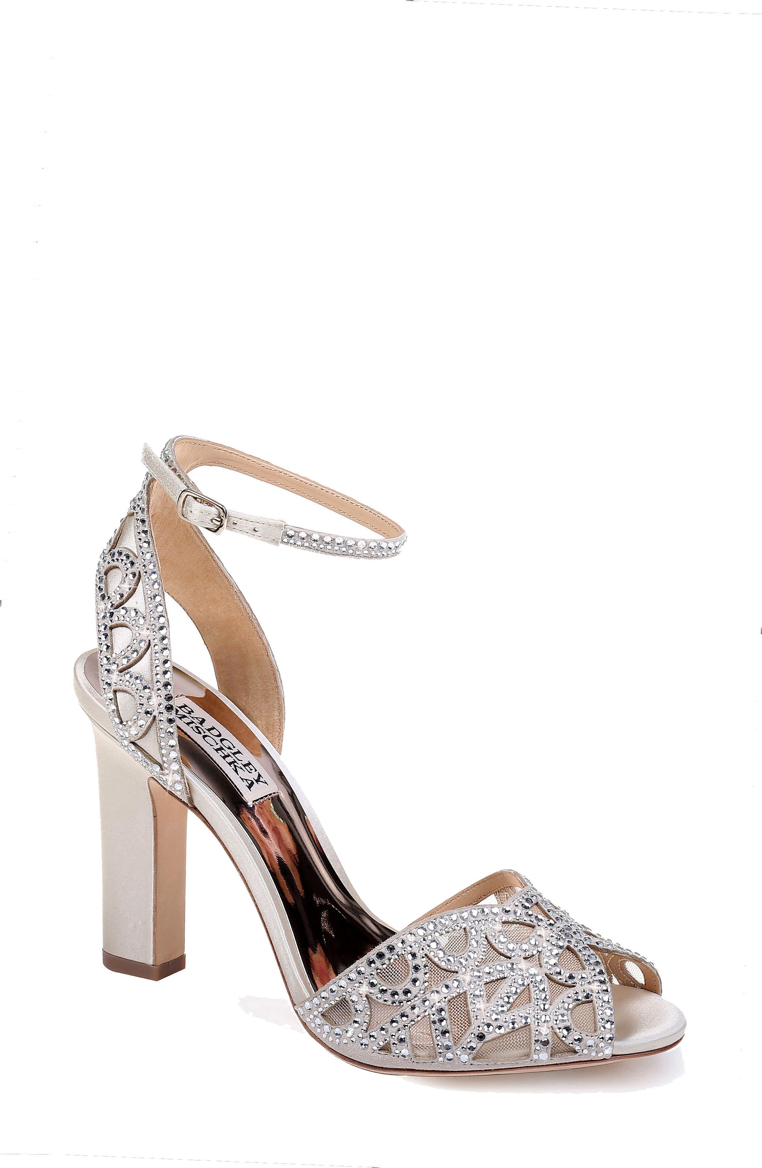 Badgley Mischka Hart Crystal Embellished Sandal (Women)