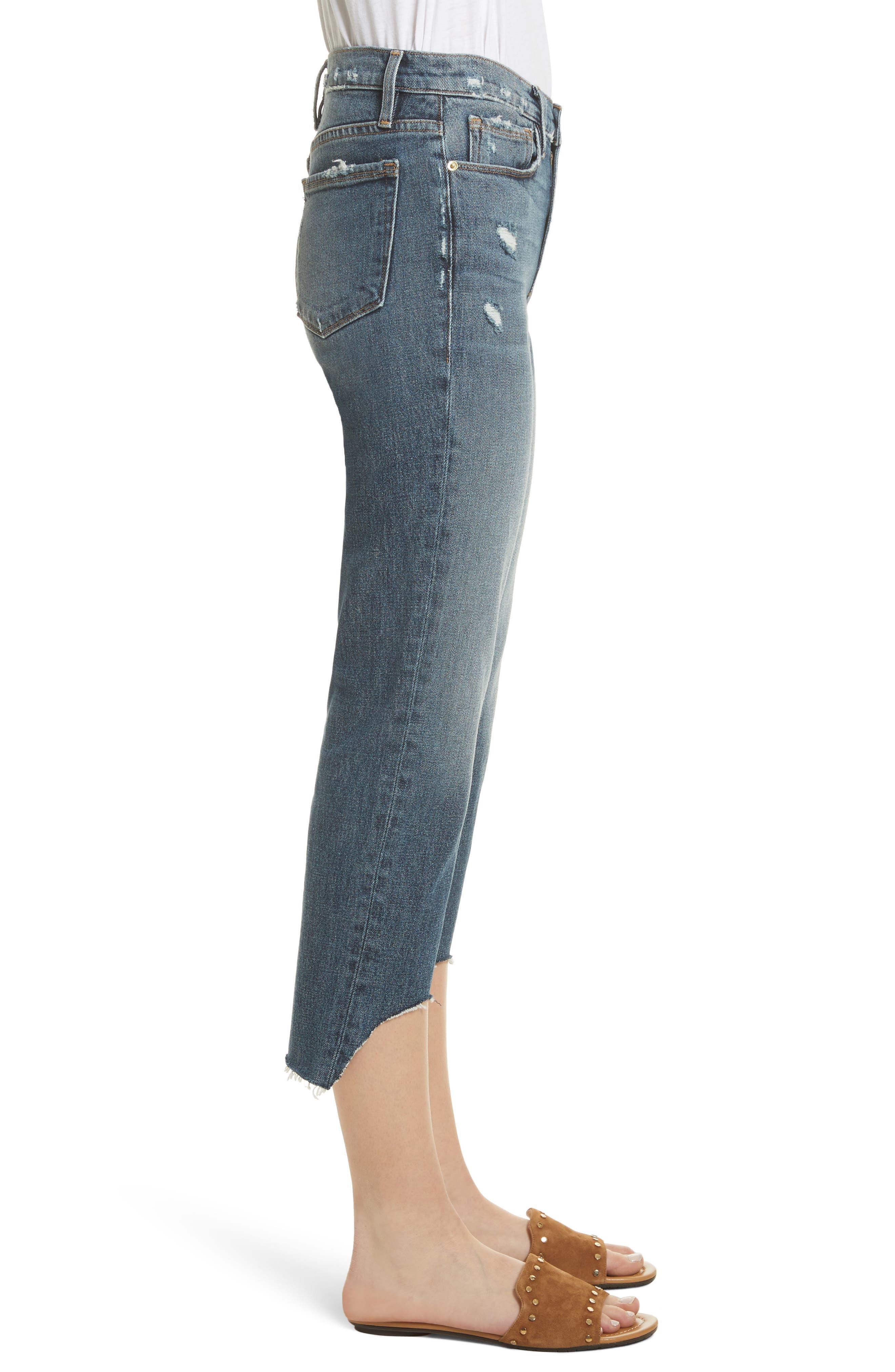 Le Nouveau Scoop Hem Ankle Straight Leg Jeans,                             Alternate thumbnail 3, color,                             Candover