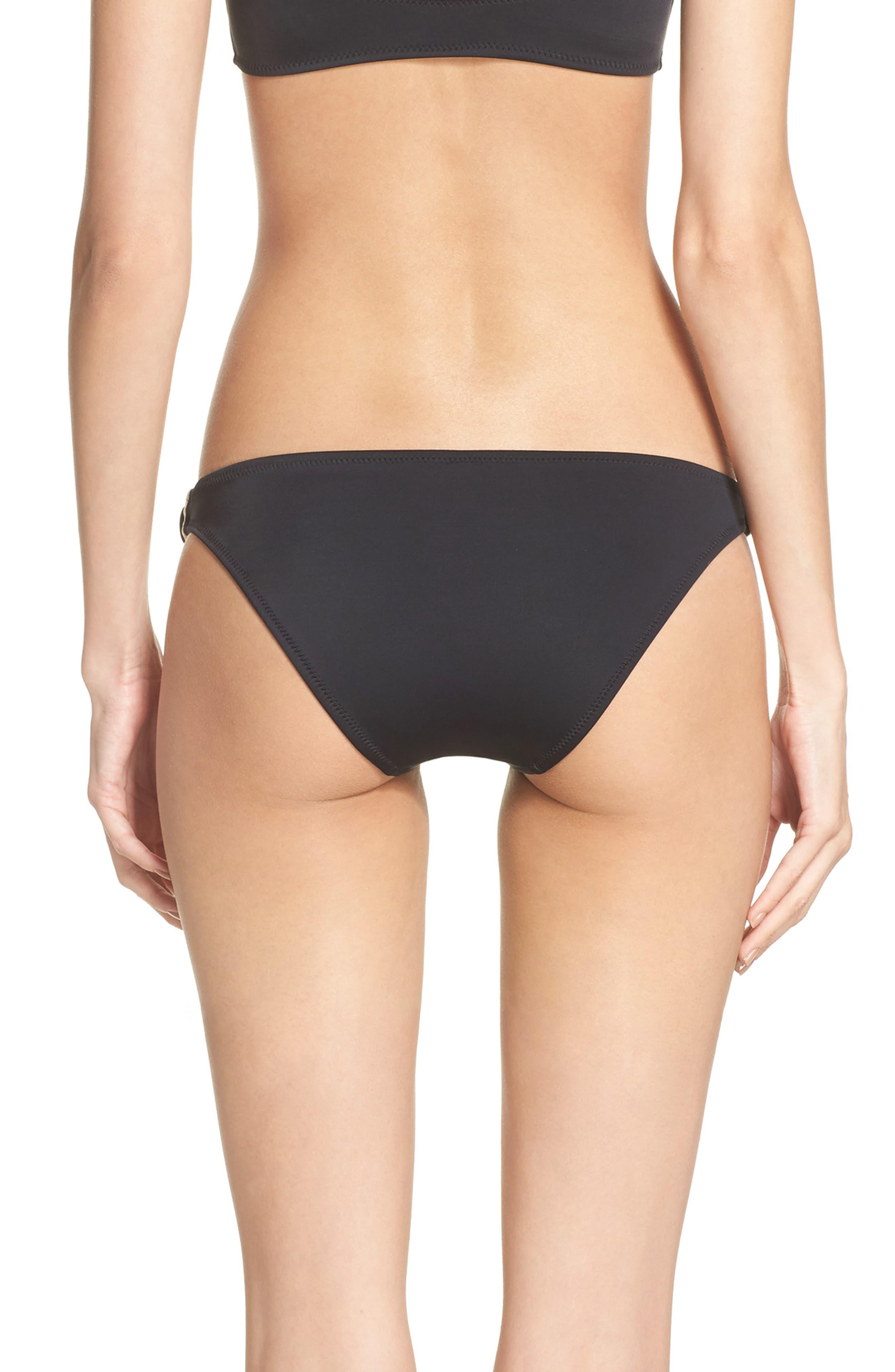 The Tessa Bikini Bottoms,                             Alternate thumbnail 2, color,                             Black