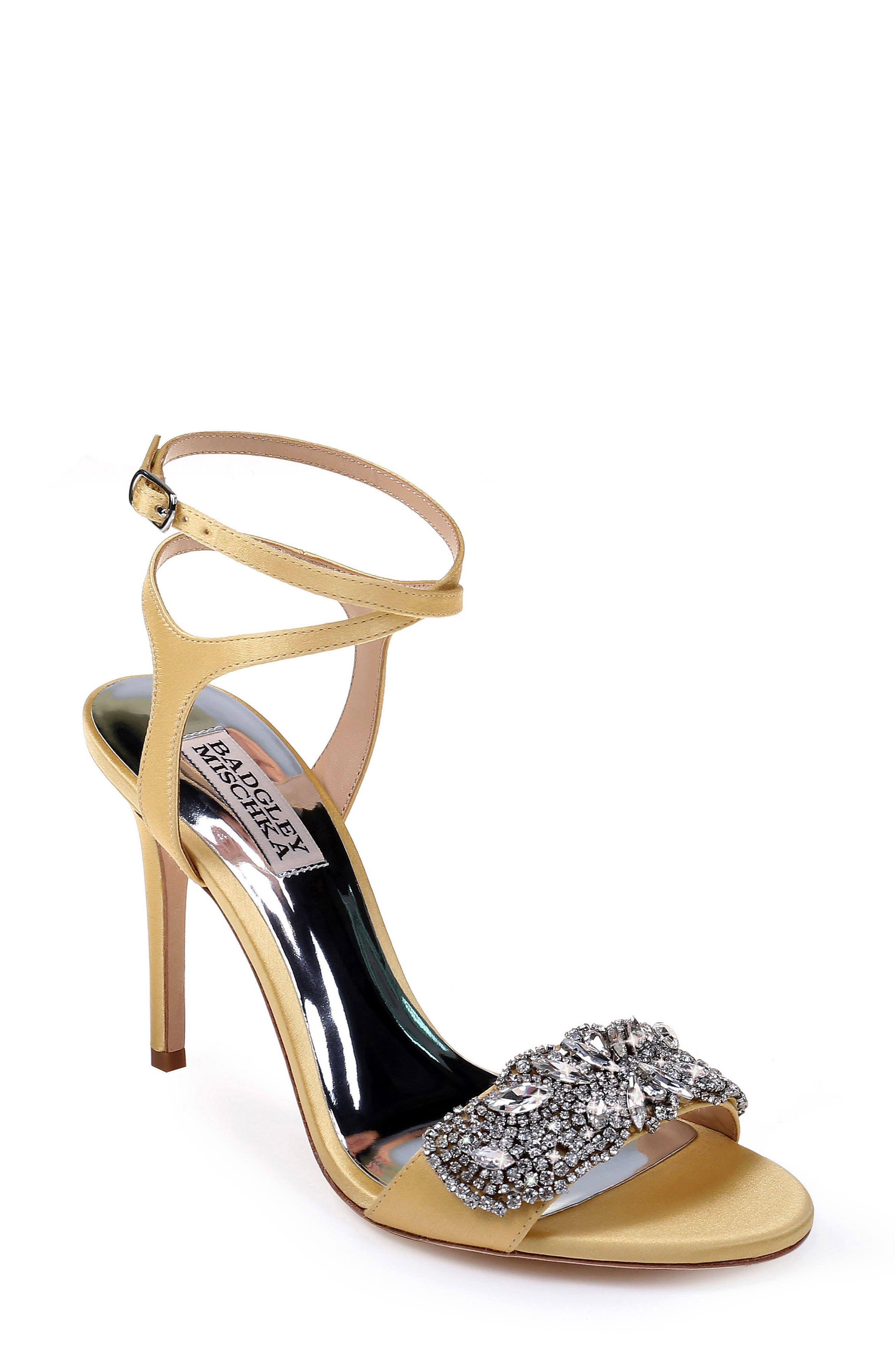 Badgley Mischka Hailey Embellished Ankle Strap Sandal (Women)