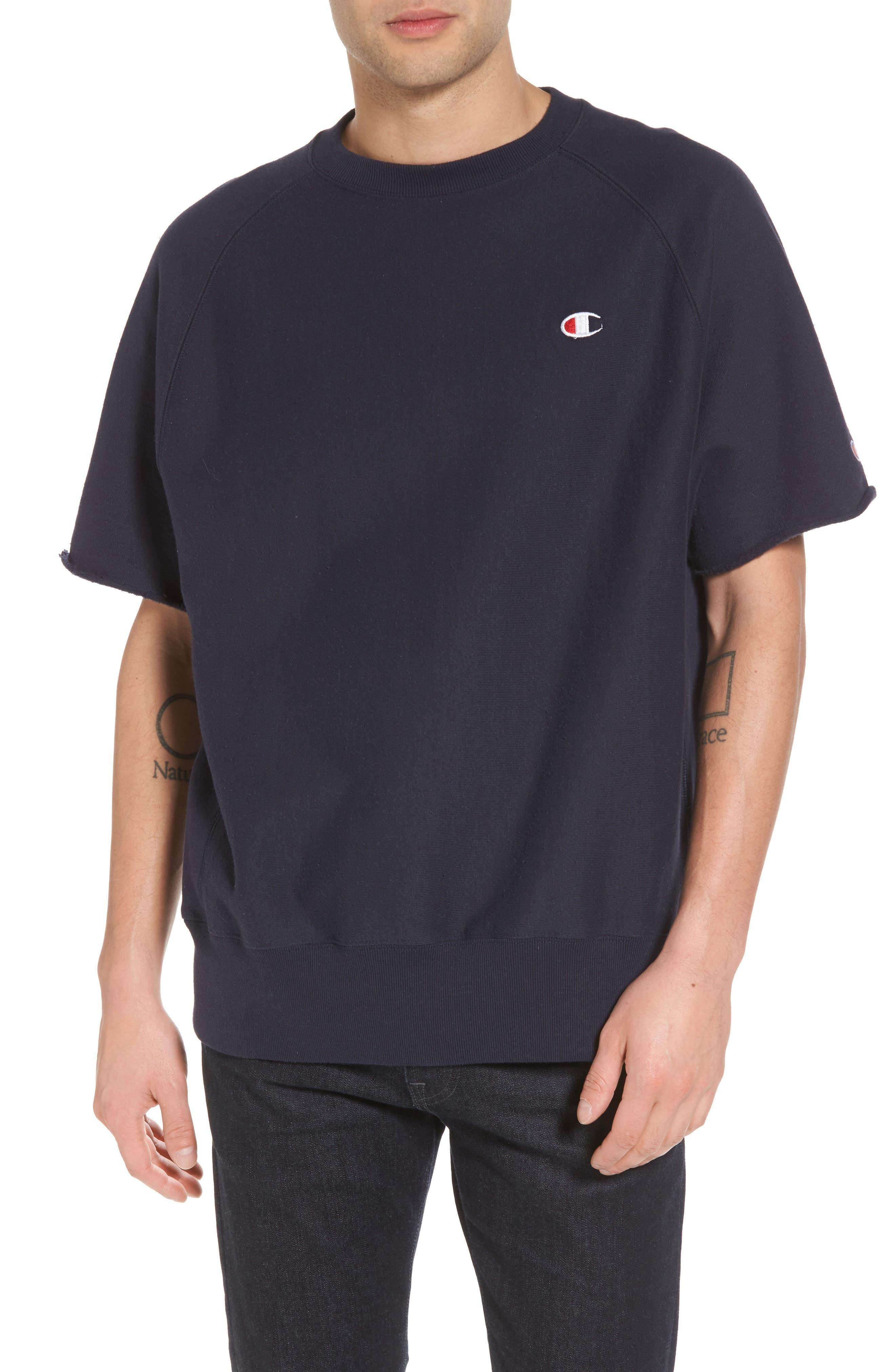 b53a5043490 Shop for Champion Reverse Weave Short Sleeve Sweatshirt online