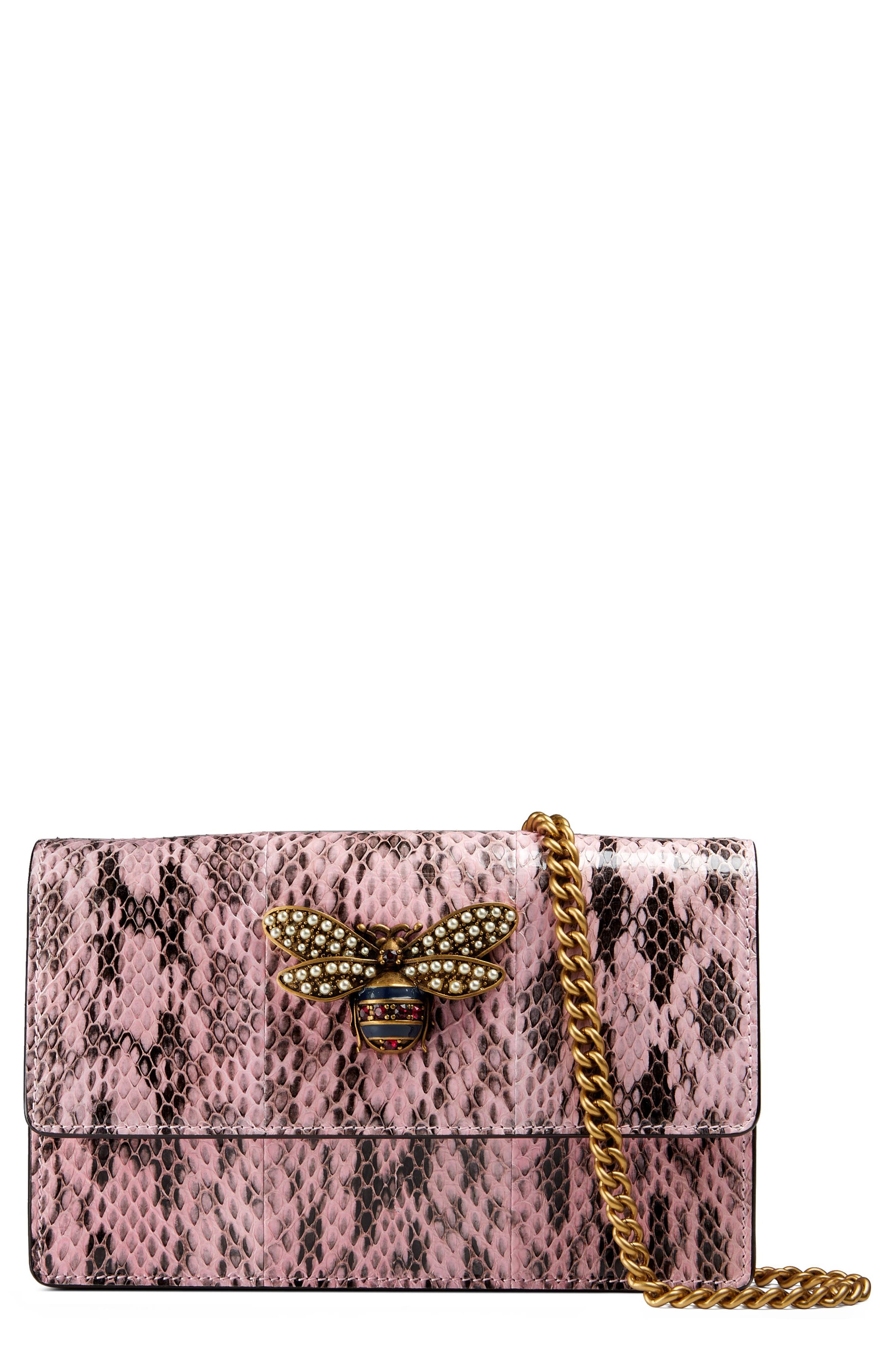 Gucci Queen Margaret Genuine Snakeskin Clutch