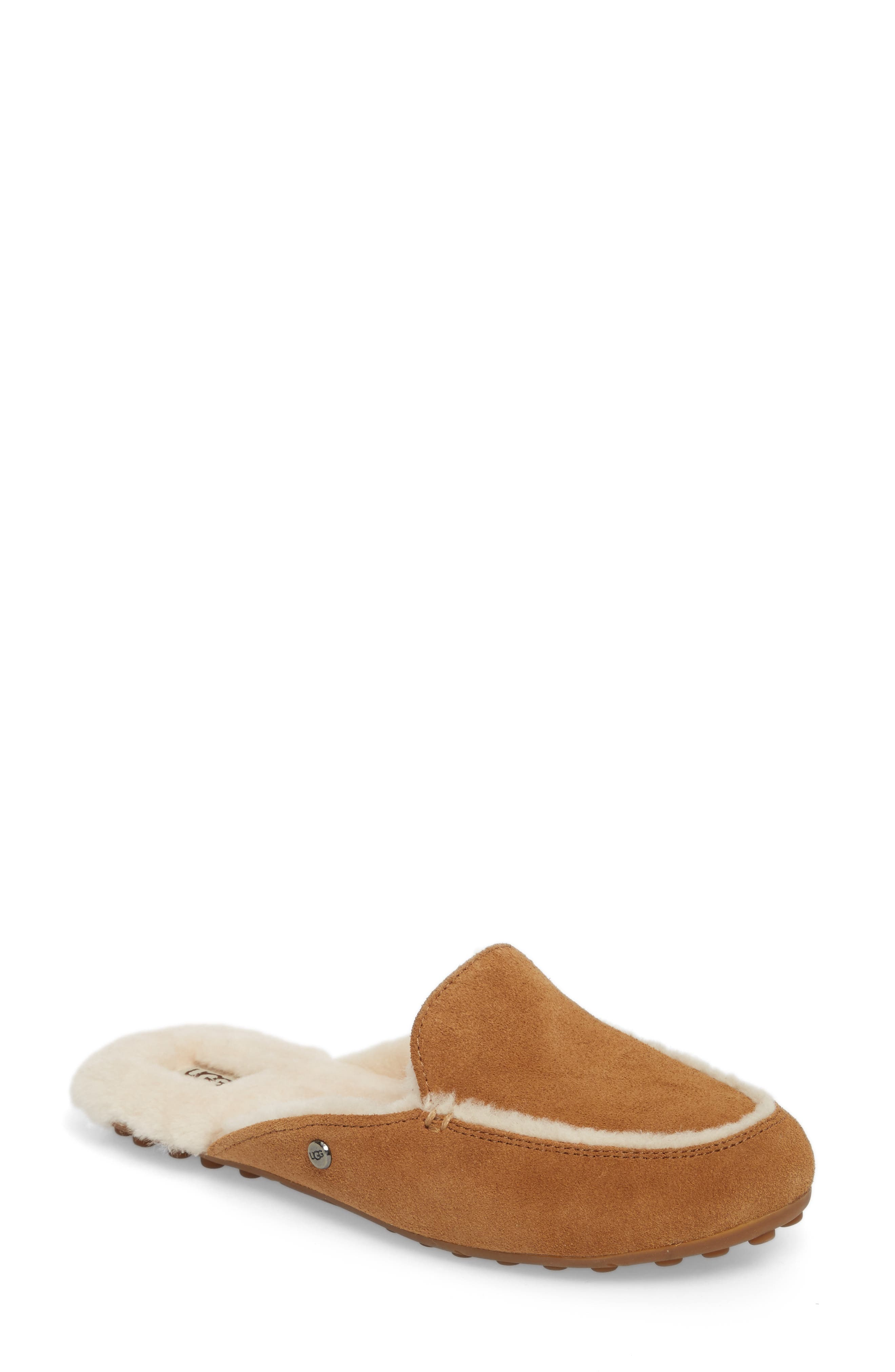 UGG Women's Lane Suede & Shearling Slippers p4vjxAdwhx