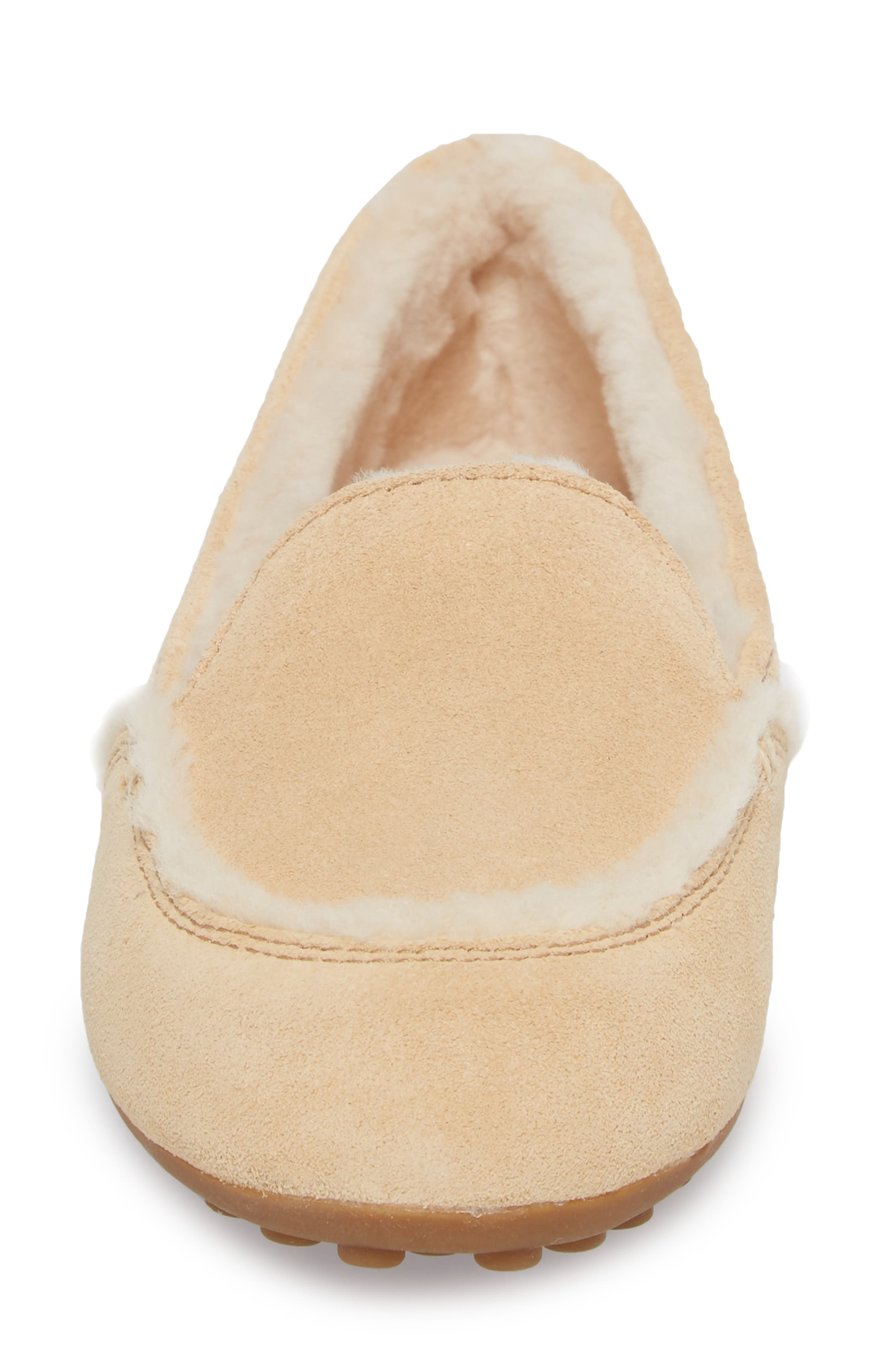 Hailey Slipper,                             Alternate thumbnail 4, color,                             Beige Suede
