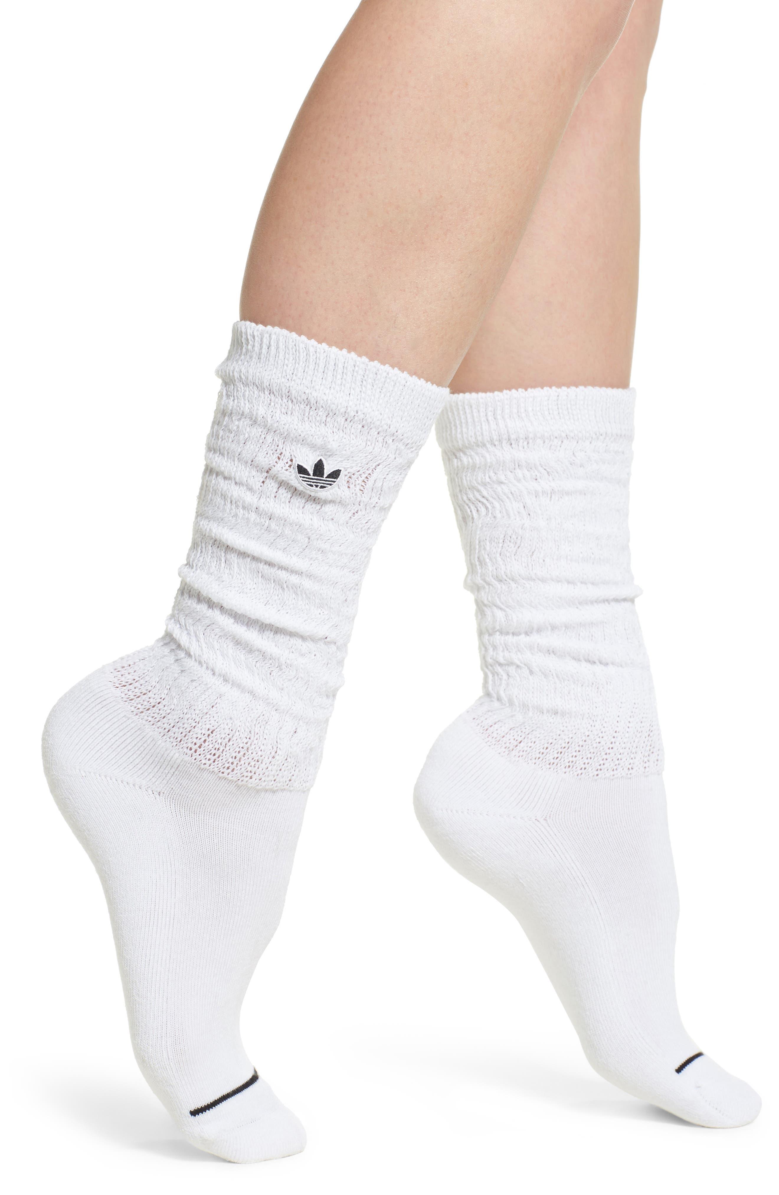 OG Slouch Crew Socks,                         Main,                         color, White