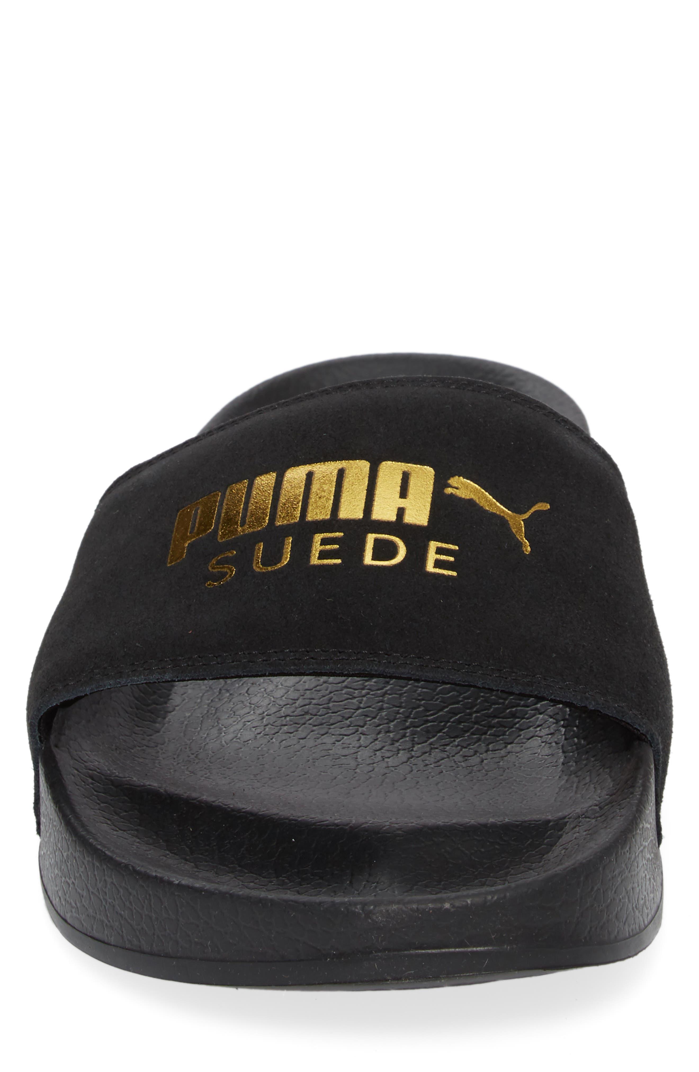 Alternate Image 4  - PUMA Leadcat Suede Slide Sandal (Men)