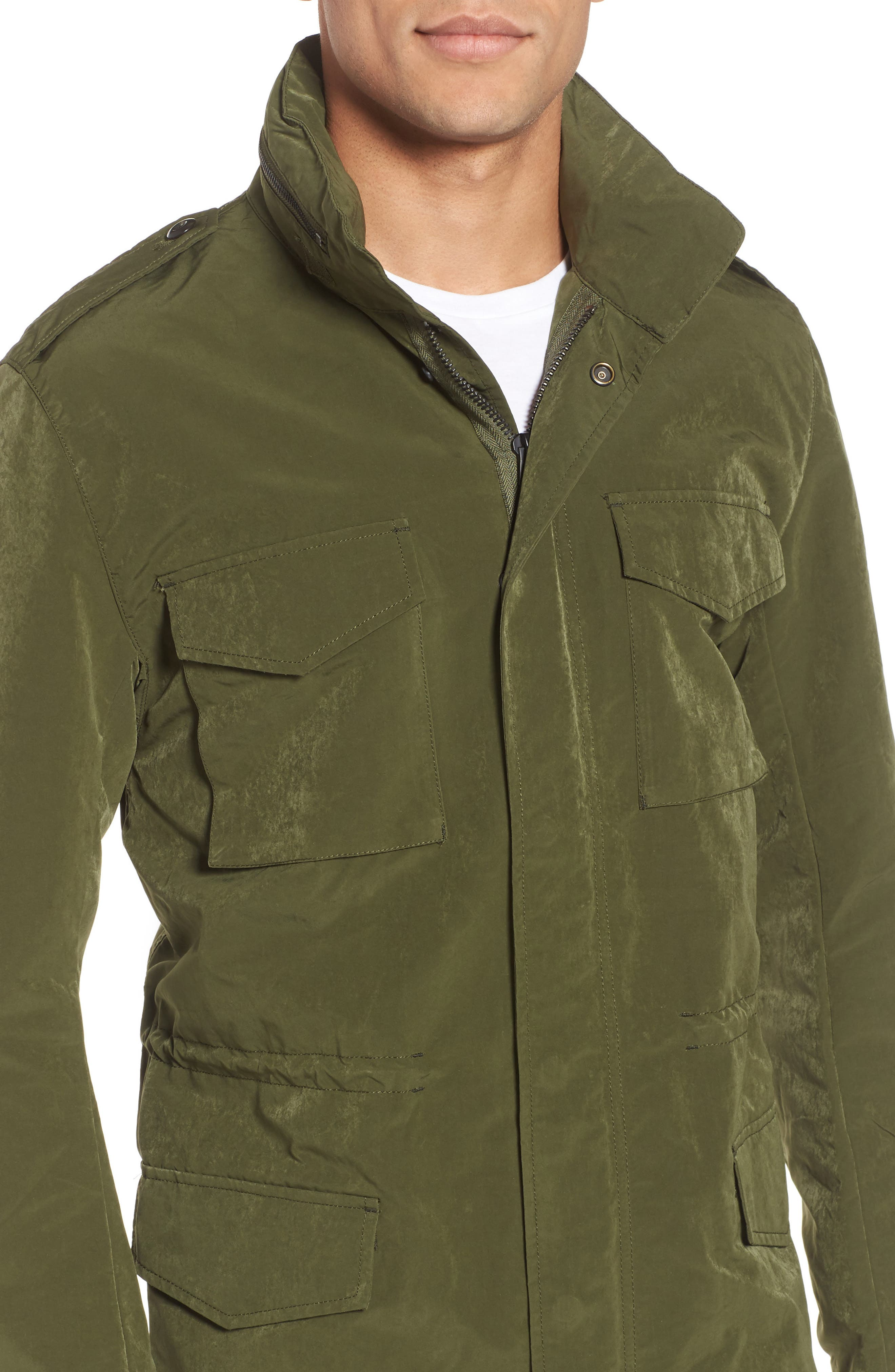 Wax Sanded Jacket,                             Alternate thumbnail 4, color,                             Bronze Green