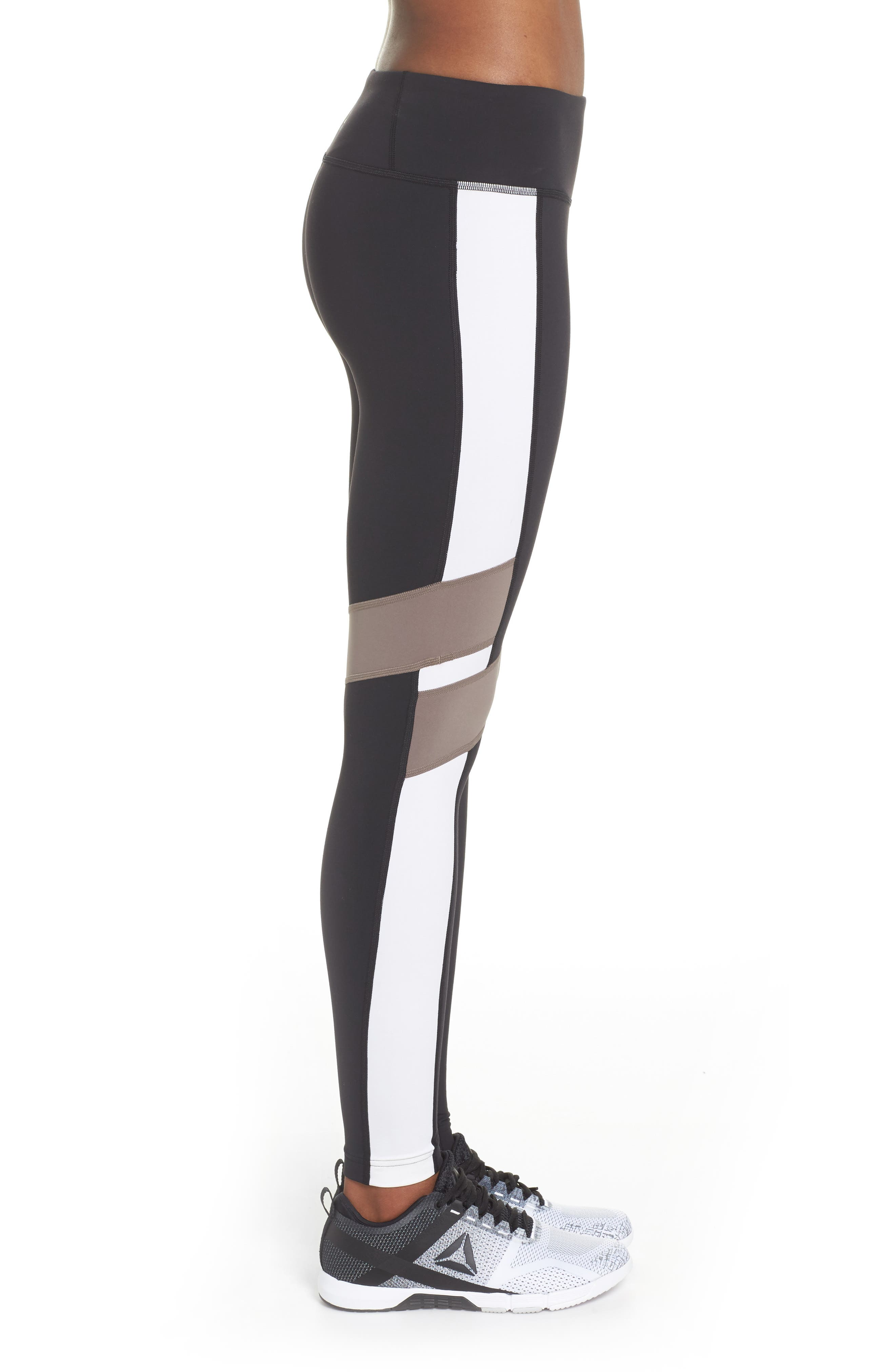 Reebox Lux Tights,                             Alternate thumbnail 3, color,                             Black