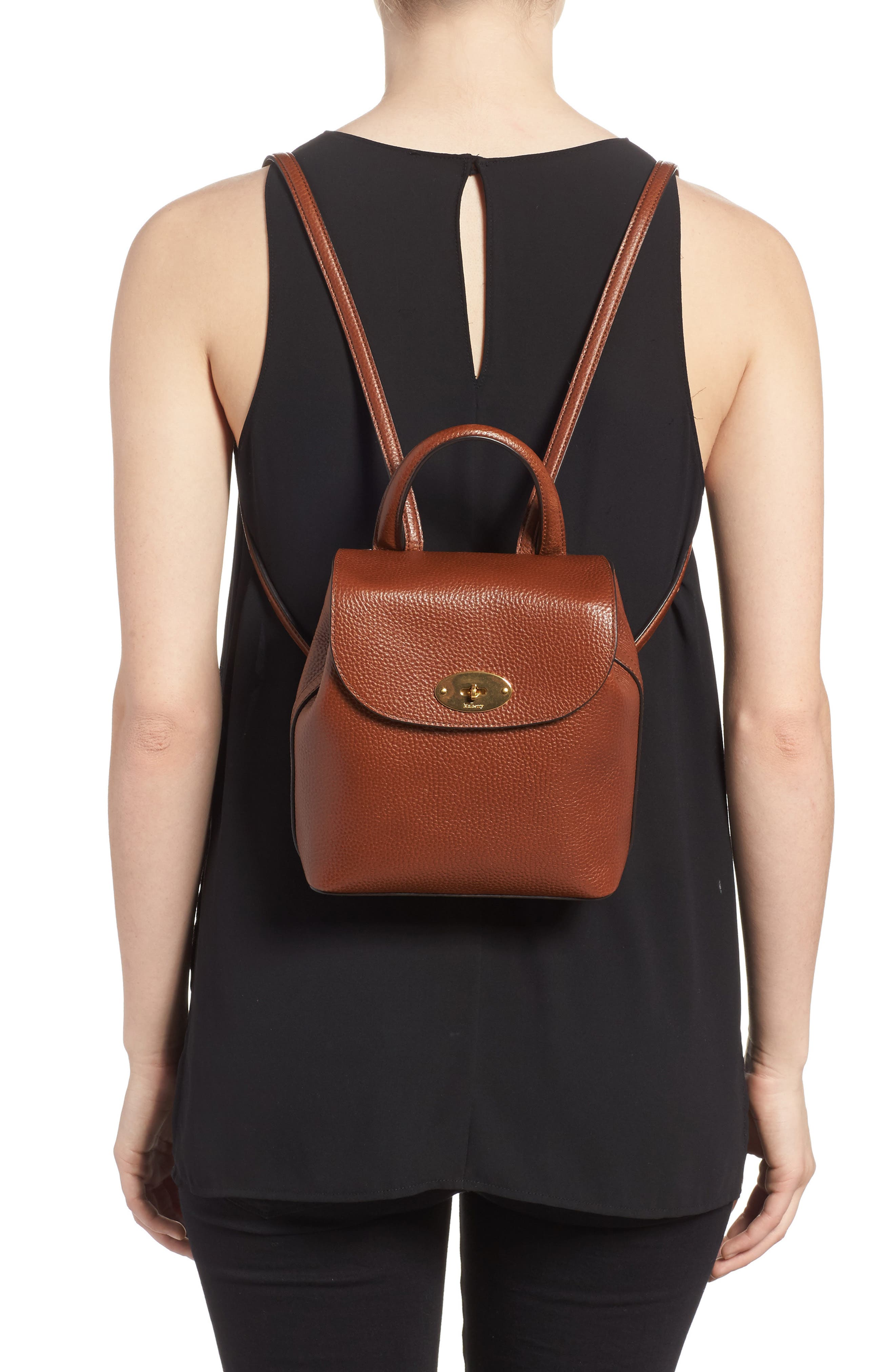 Alternate Image 2  - Mulberry Mini Bayswater Calfskin Leather Convertible Backpack