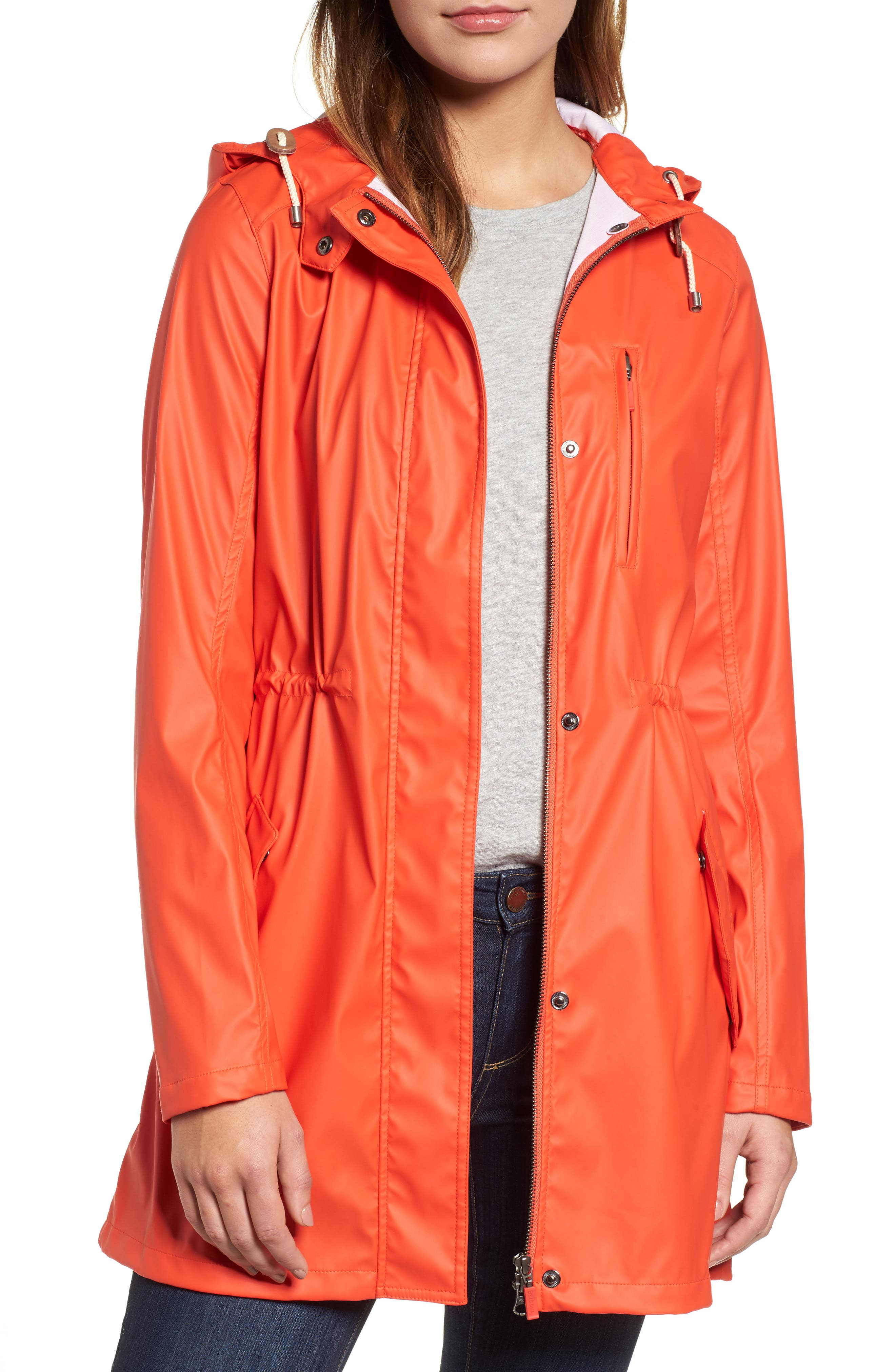Harbour Hooded Jacket,                             Main thumbnail 1, color,                             Signal Orange