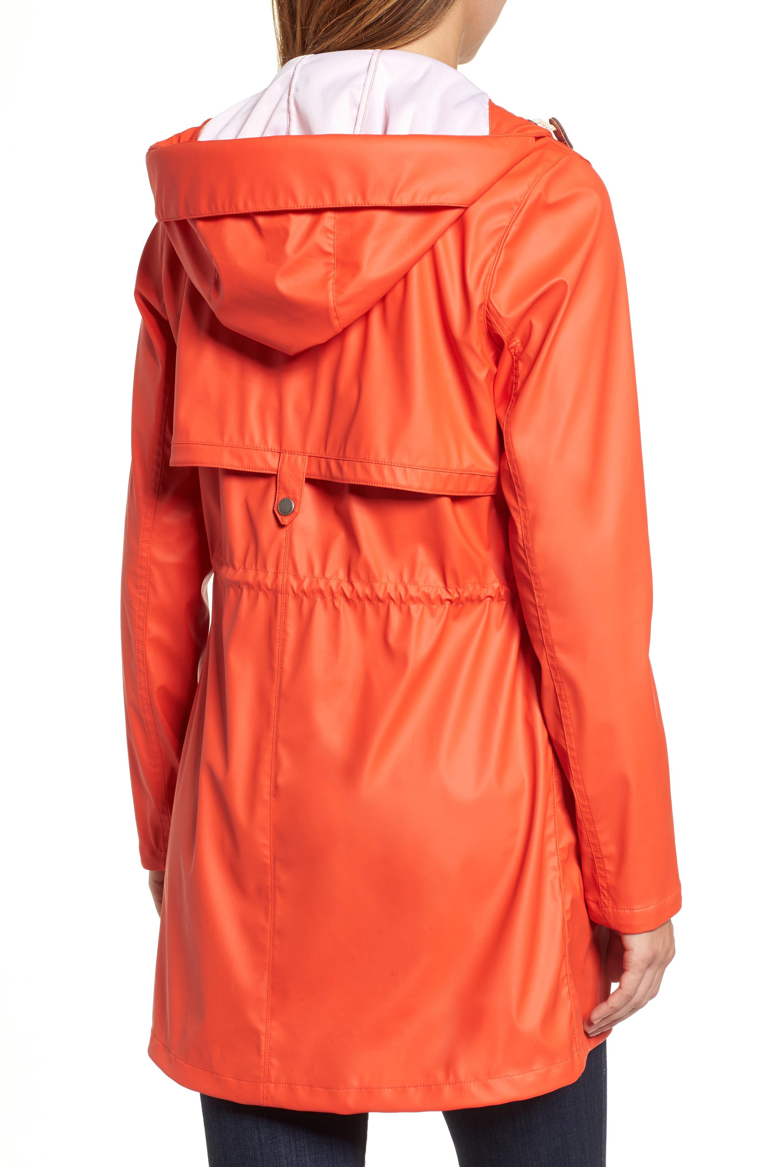 Harbour Hooded Jacket,                             Alternate thumbnail 2, color,                             Signal Orange