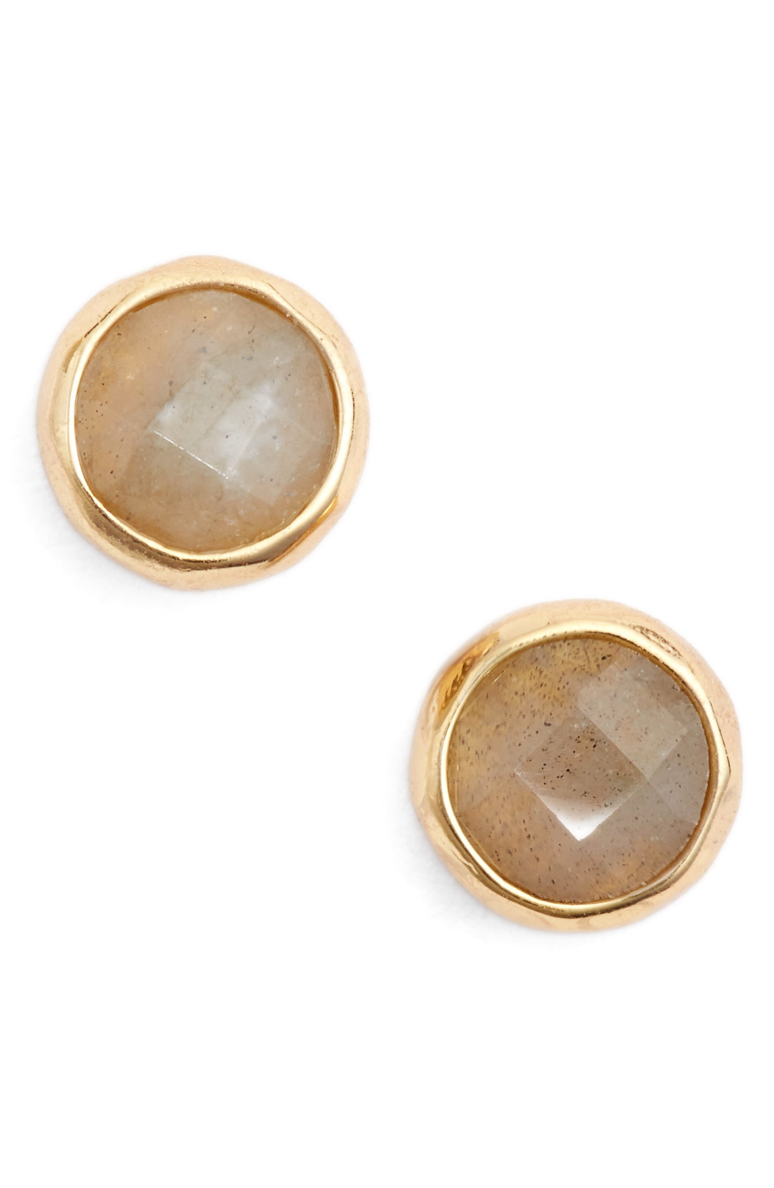 Balance Stud Earrings,                             Main thumbnail 1, color,                             Labradorite/ Gold
