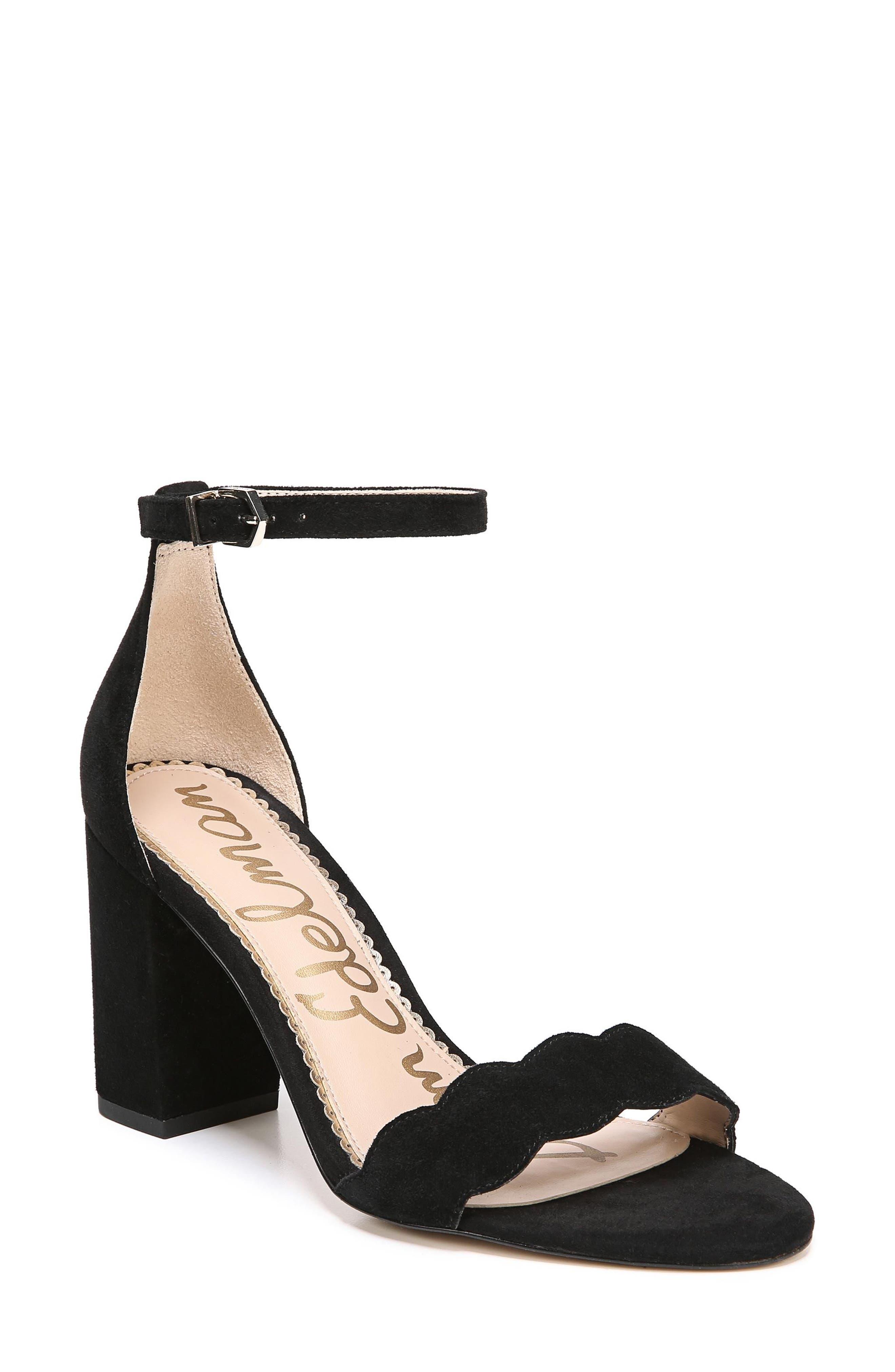 Odila Sandal,                         Main,                         color, Black Suede